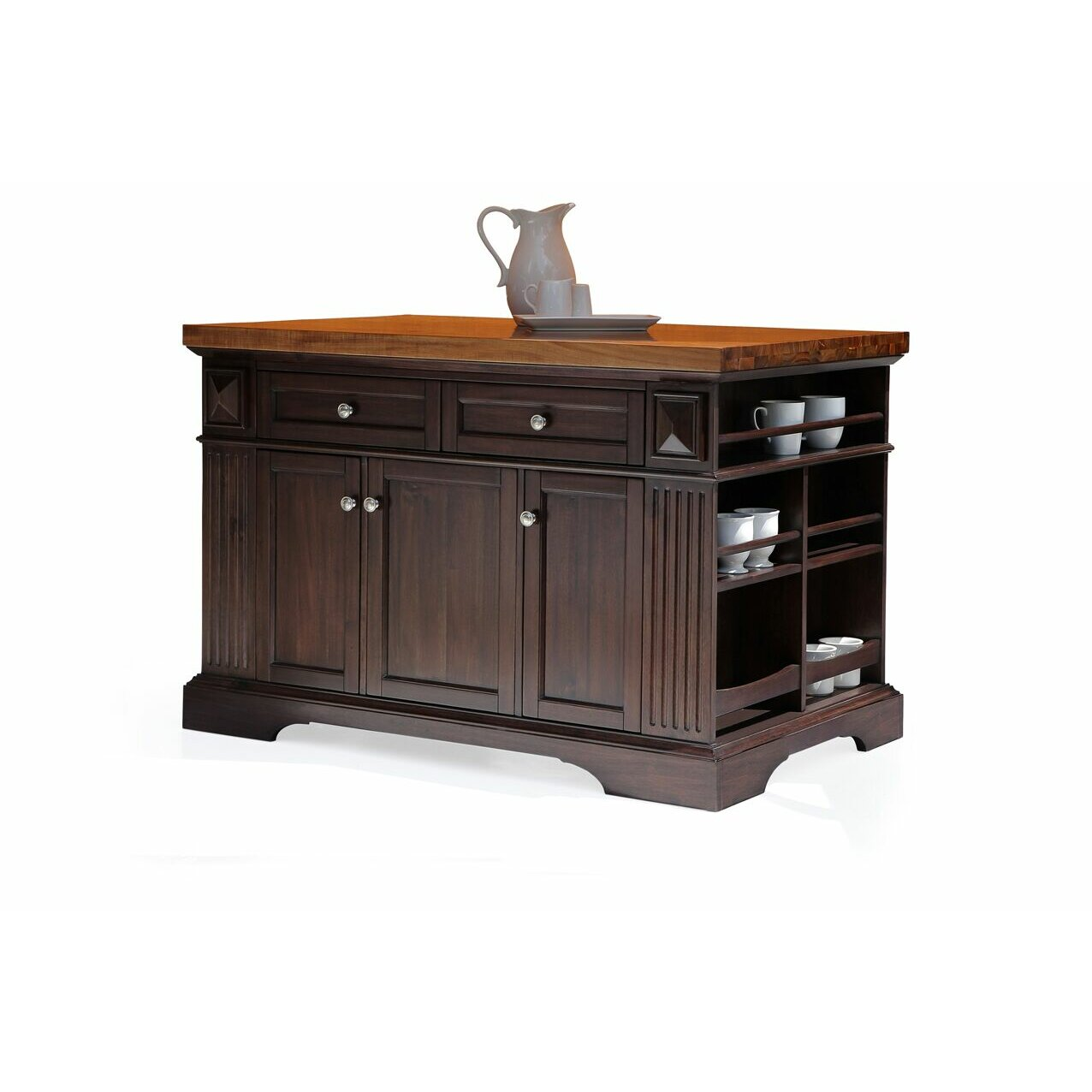 Kitchen Island Furniture: 222 Fifth Furniture Greenwich Kitchen Island With Wood Top