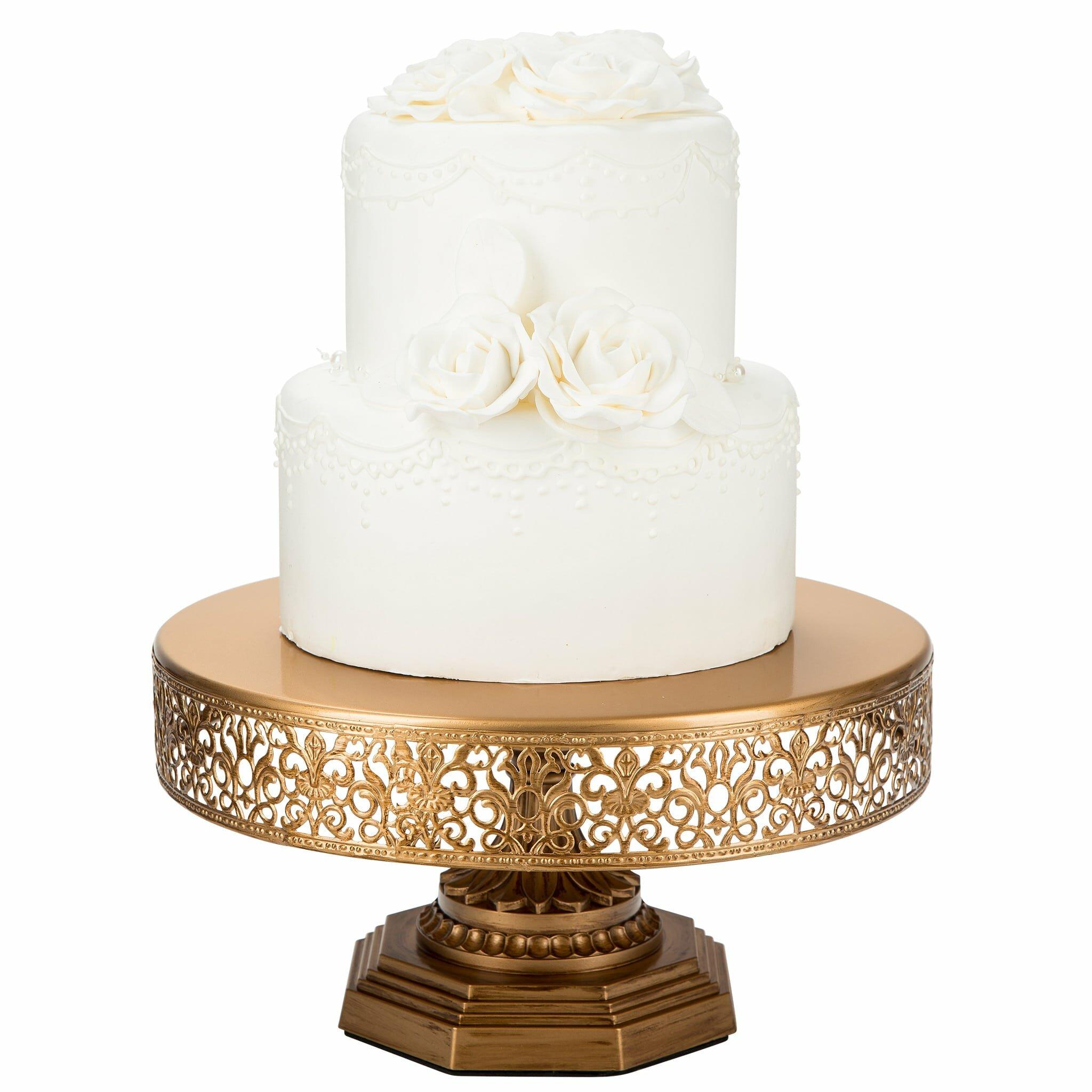 Decorative Cake Stands Amalfidecor Victoria Metal Cake Stand Reviews Wayfair
