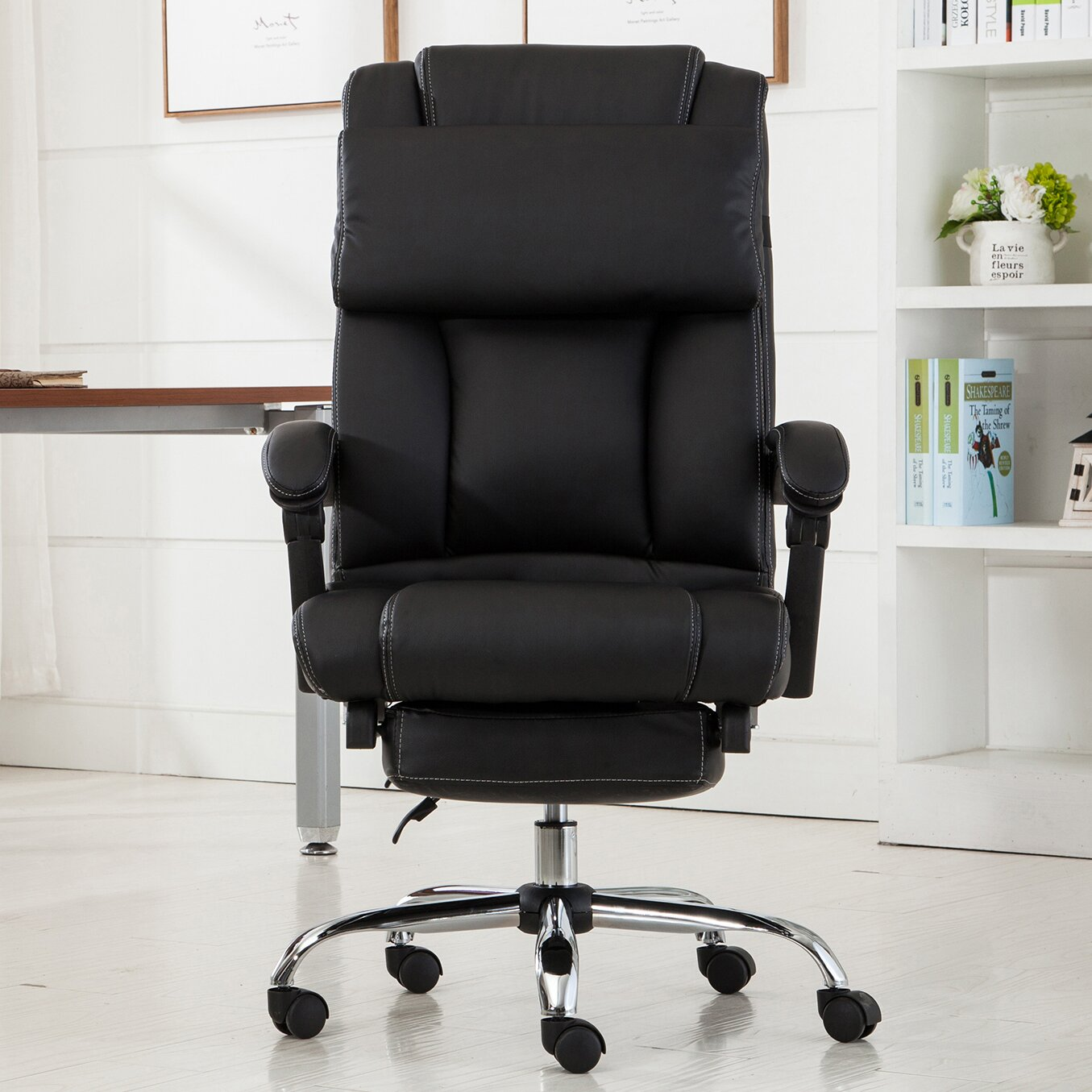 Lounge chairs for bad backs - Executive High Back Footrest Recliner
