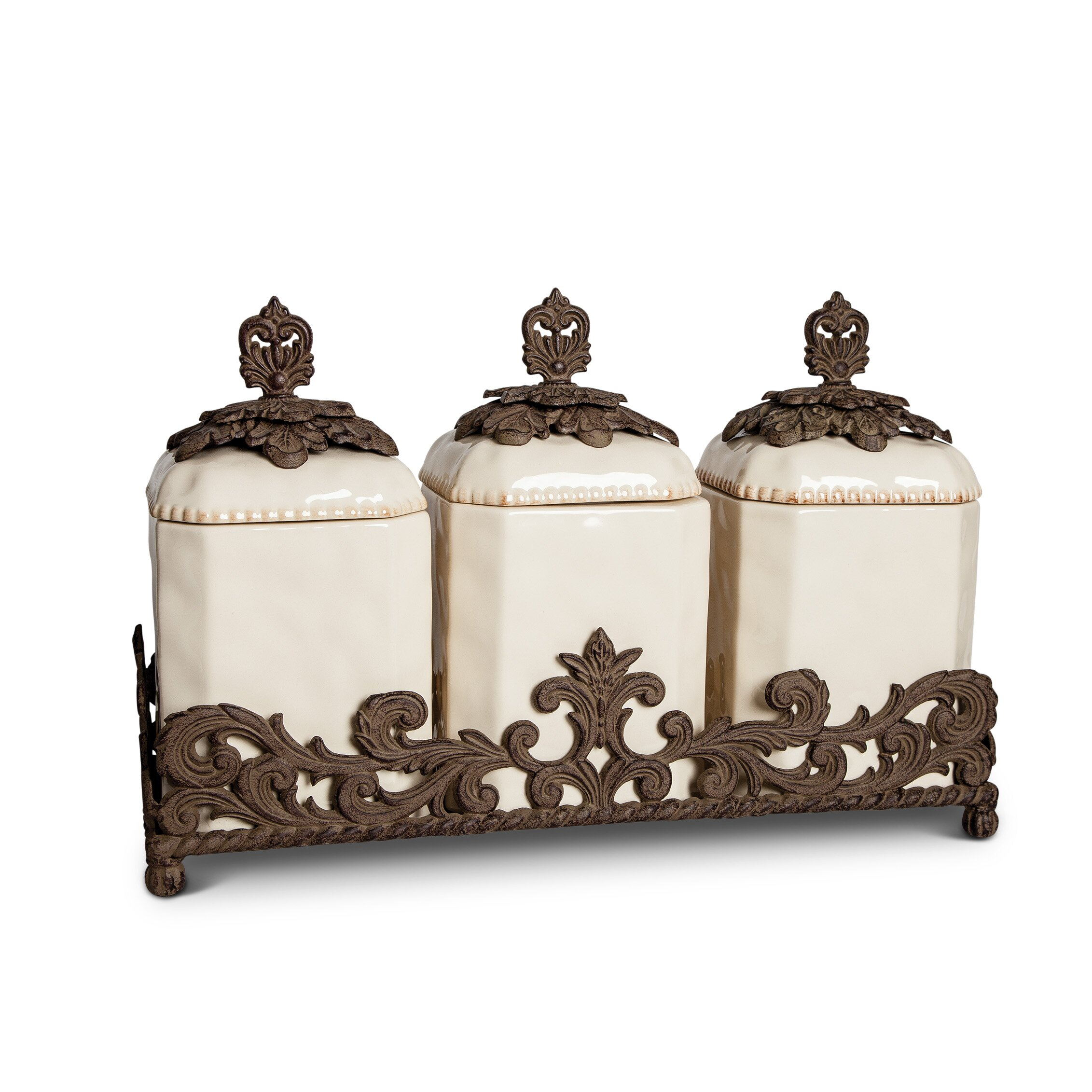 tggc 3 piece kitchen canister set wayfair ca shop metal kitchen canisters on wanelo