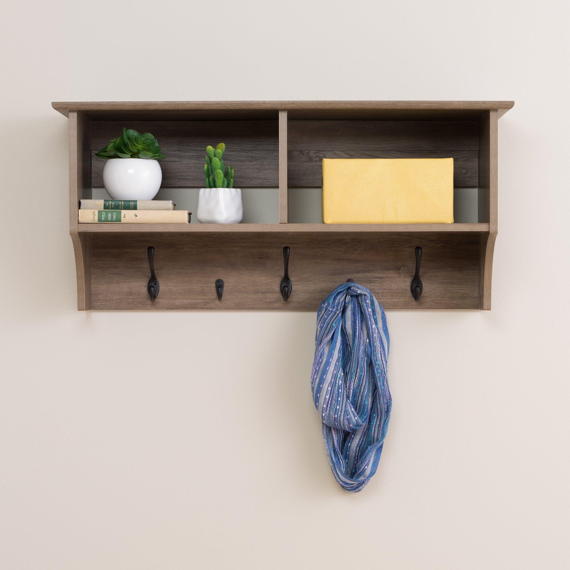 laurel foundry modern farmhouse 36 drifted gray wall mounted coat rack reviews wayfair. Black Bedroom Furniture Sets. Home Design Ideas