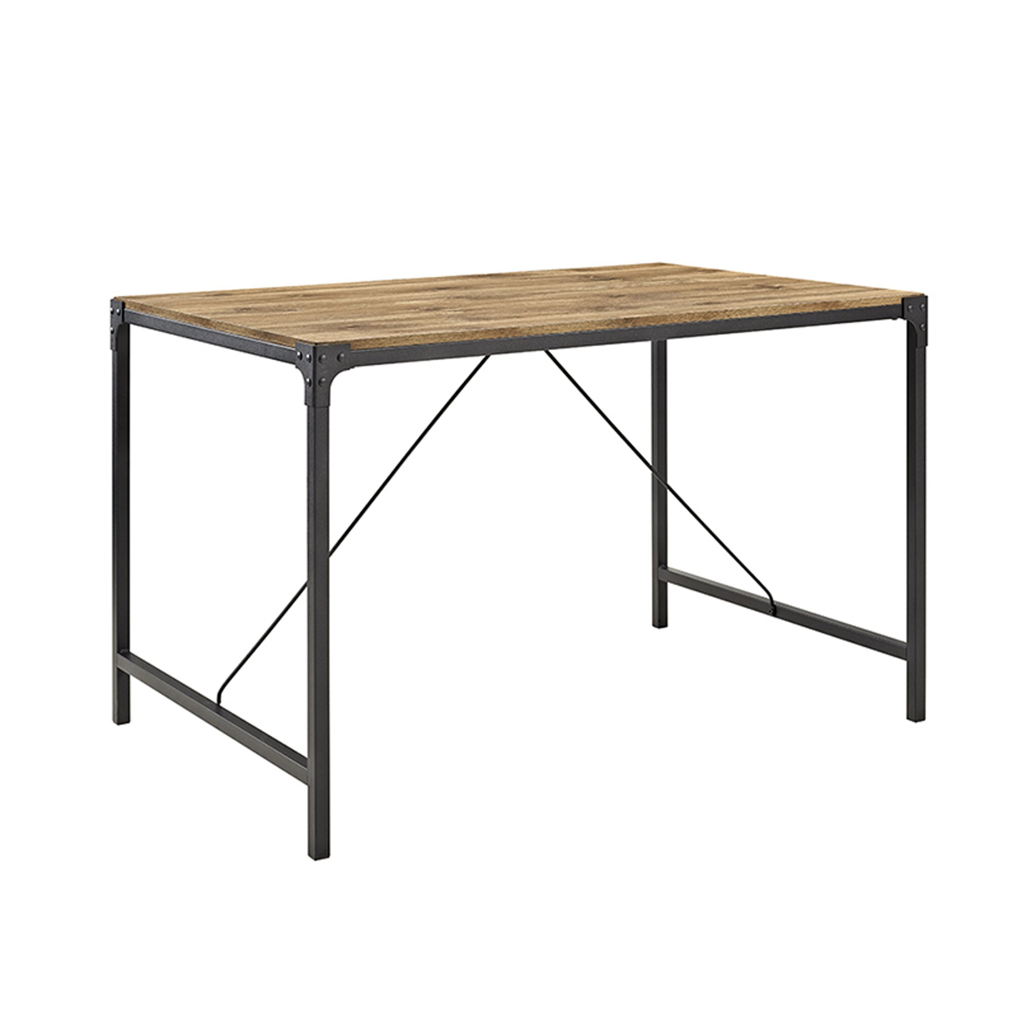 Iron Wood Dining Table Madeline Angle Iron And Wood Dining Table Reviews Allmodern