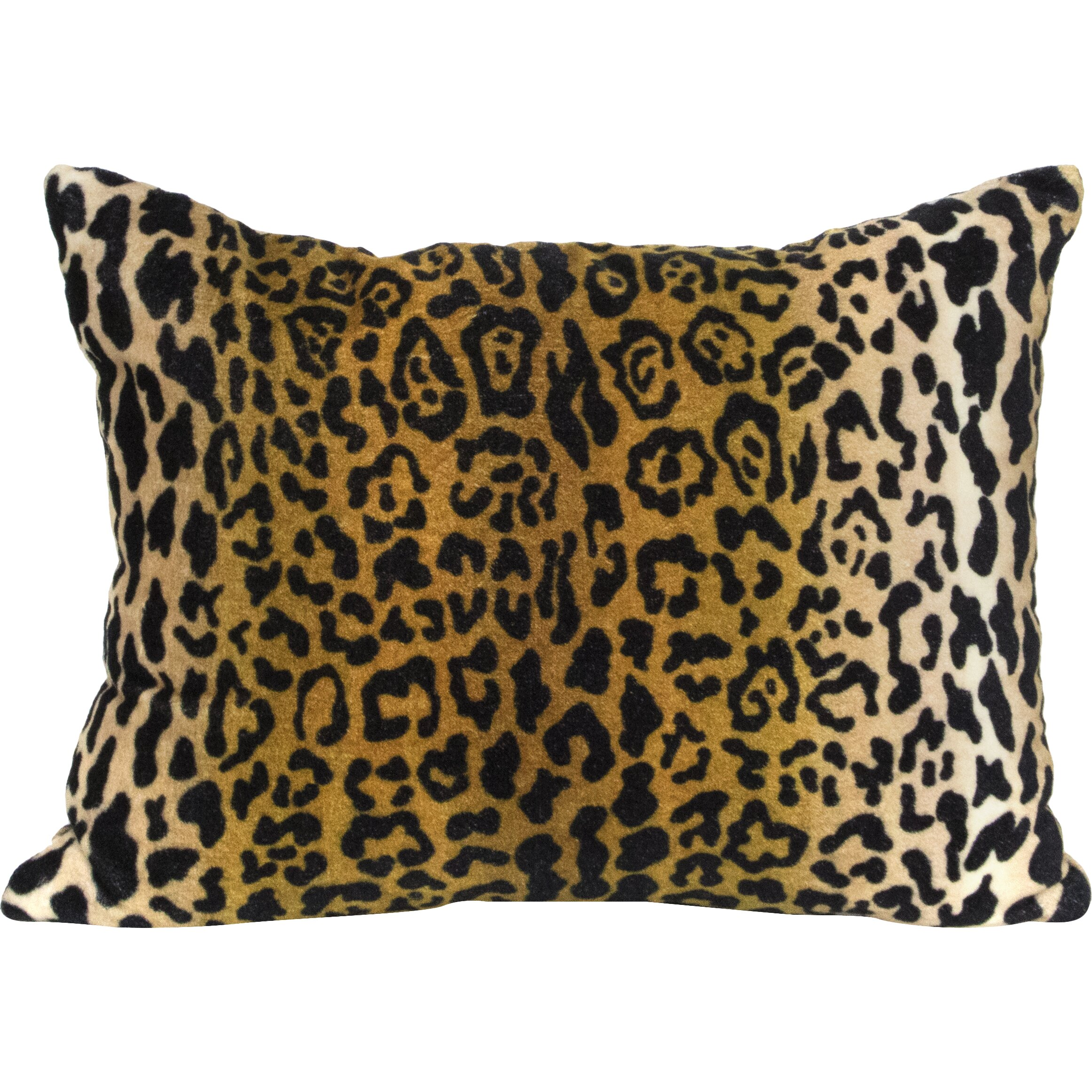 Elements By Erin Gates Leopard Velvet Lumbar Pillow