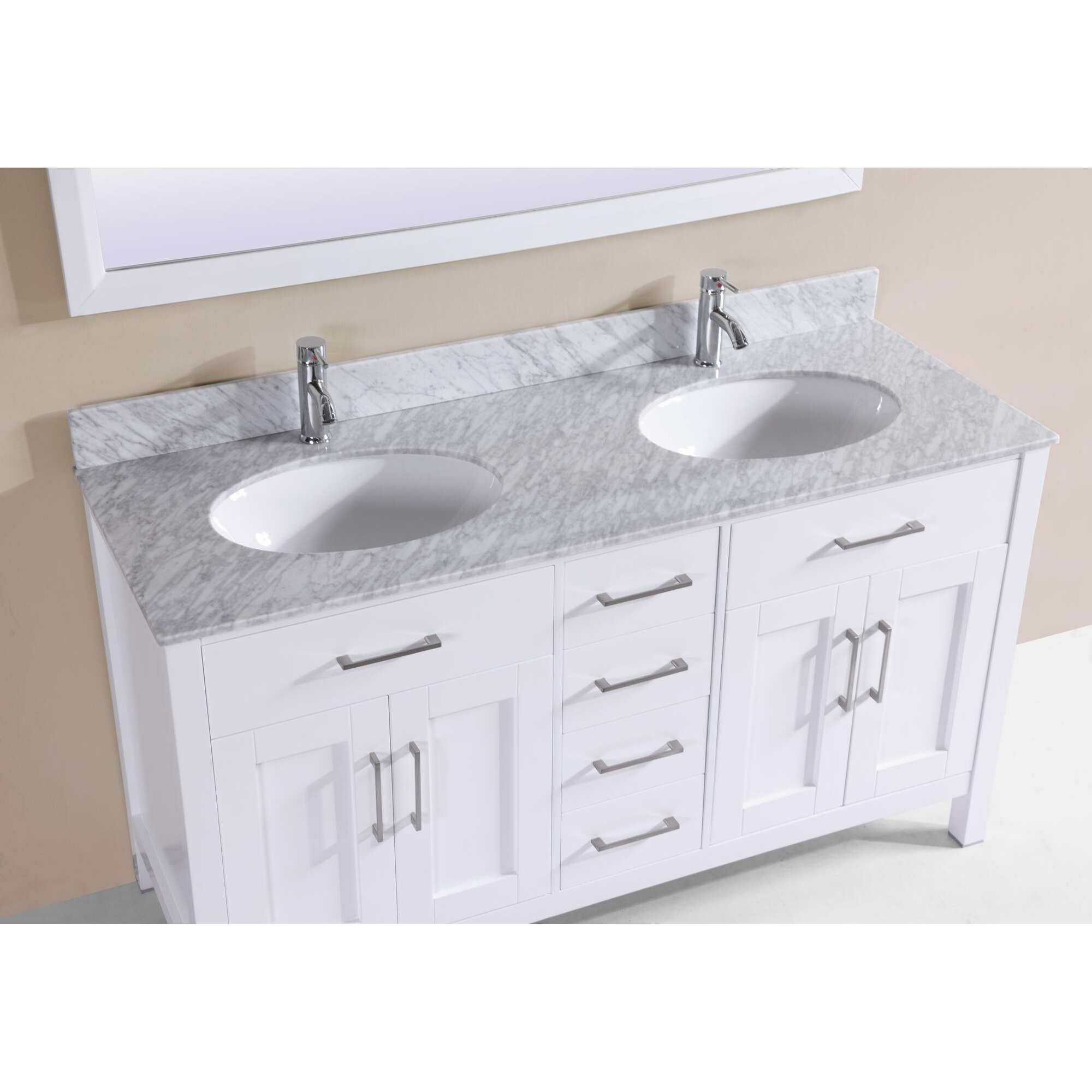 60 Bathroom Cabinet Belvederebath 60 Modern Double Bathroom Vanity Set Wayfair