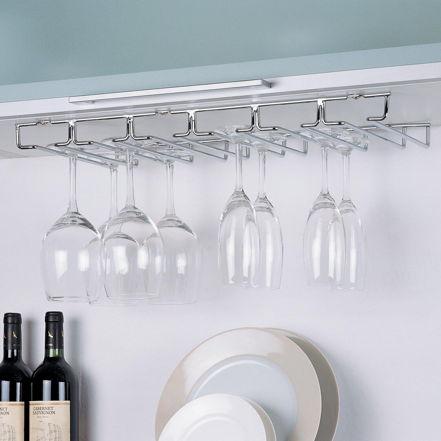 Wine Glass Hangers Under Cabinet Wine Racks Cabinets Youll Love Wayfair