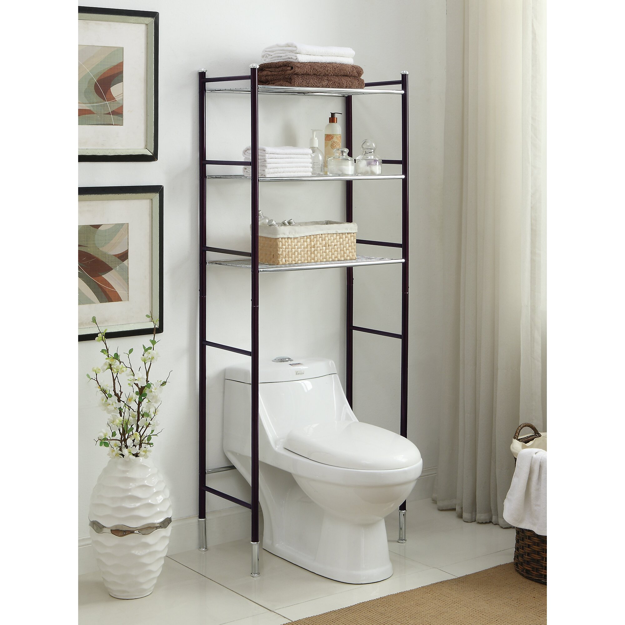 oia duplex 24 w x h over the toilet storage. Black Bedroom Furniture Sets. Home Design Ideas