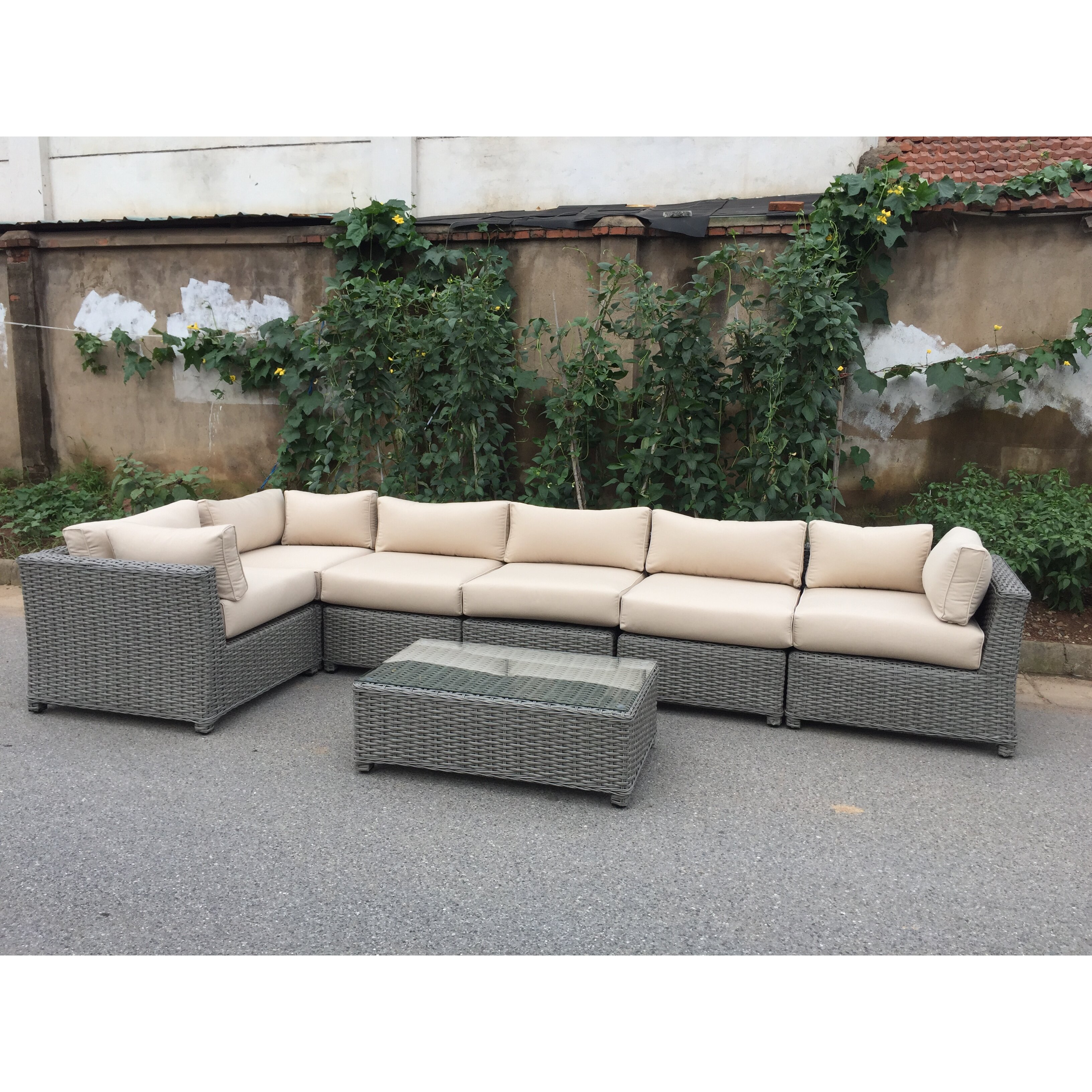 Signaturerattan 7 Piece Sectional Seating Group With
