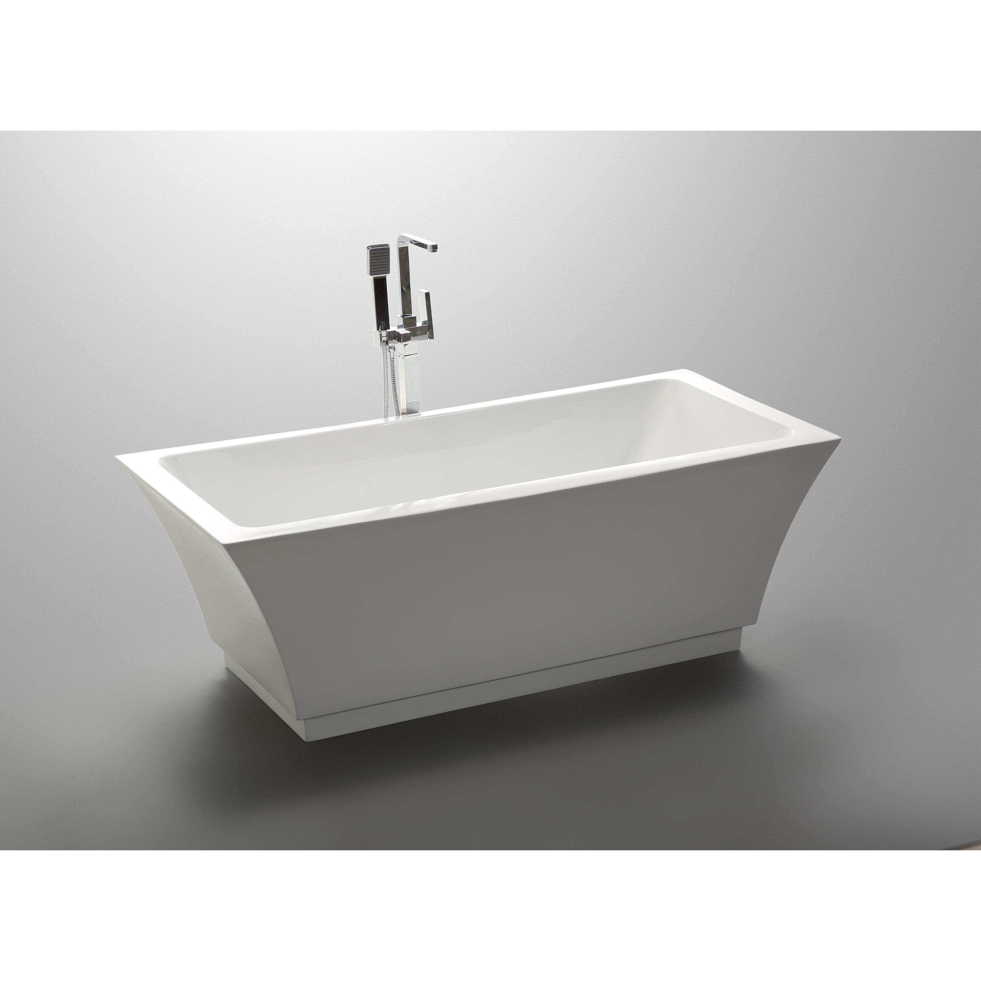 Vanityart 59 Quot X 29 5 Quot Freestanding Soaking Bathtub