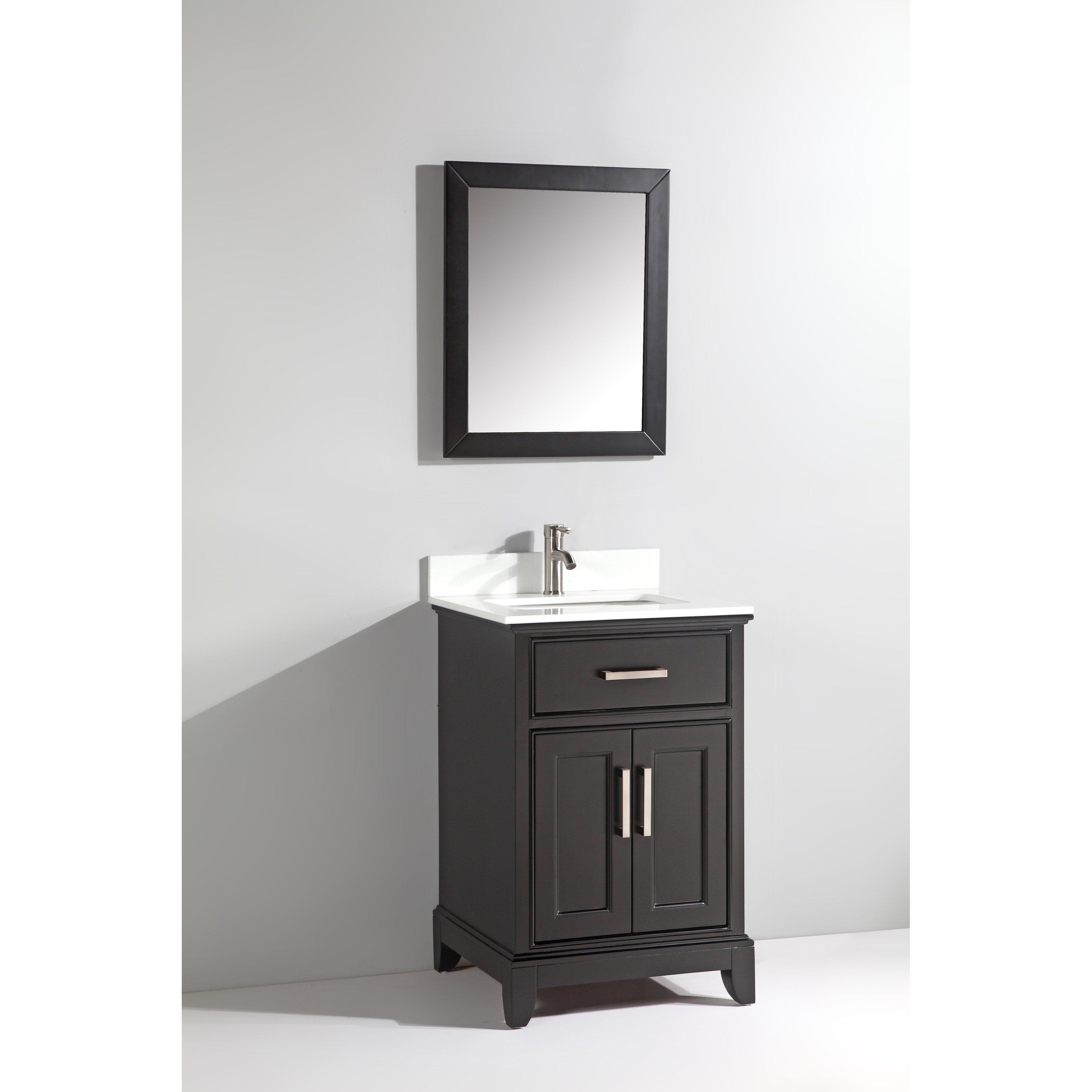 vanity art 24 single bathroom vanity set with mirror reviews