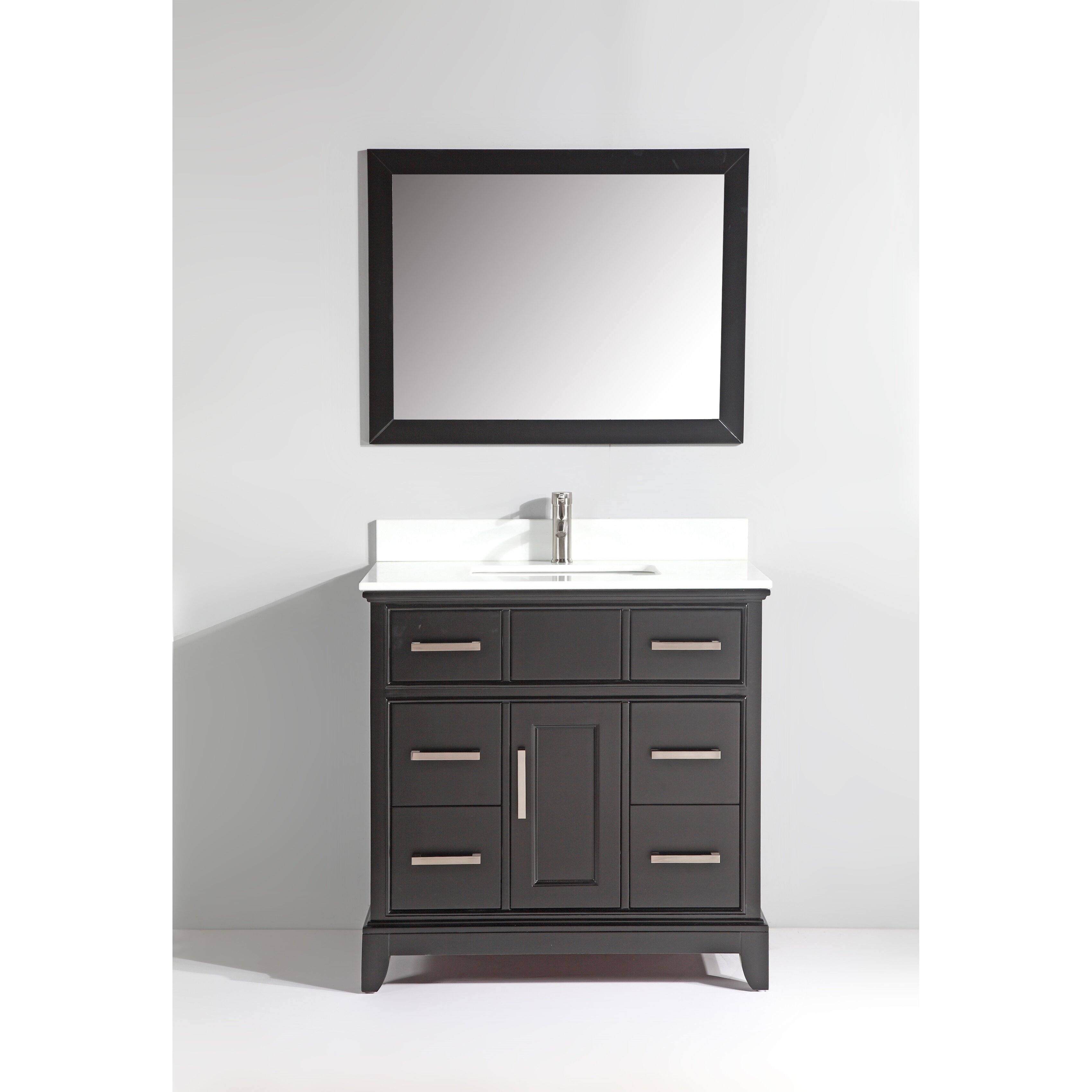 Bathroom Single Vanity Vanity Art Phoenix Stone 36 Single Bathroom Vanity With Mirror