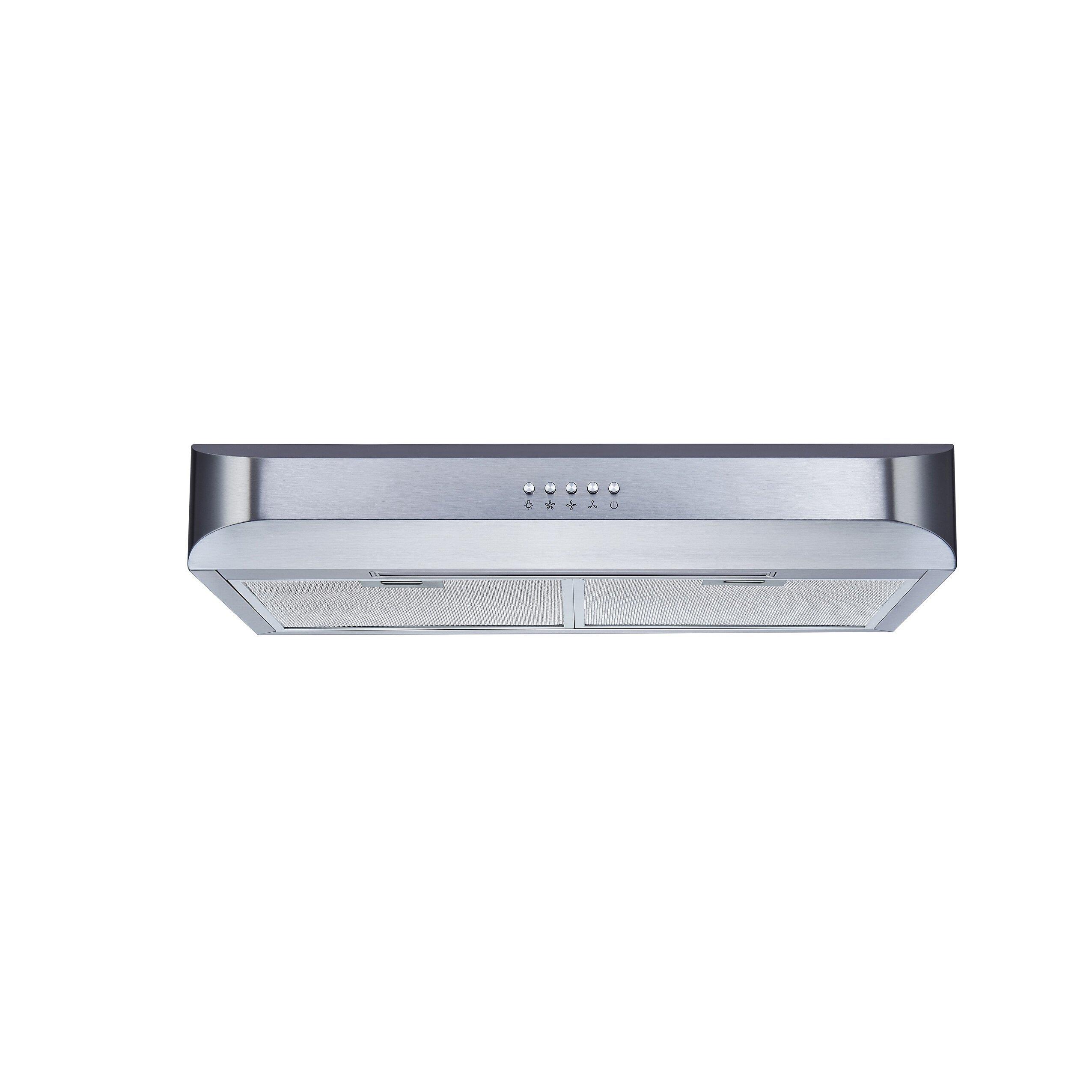 30 Under Cabinet Range Hood Winflo 30 250 Cfm Convertible Under Cabinet Range Hood Reviews