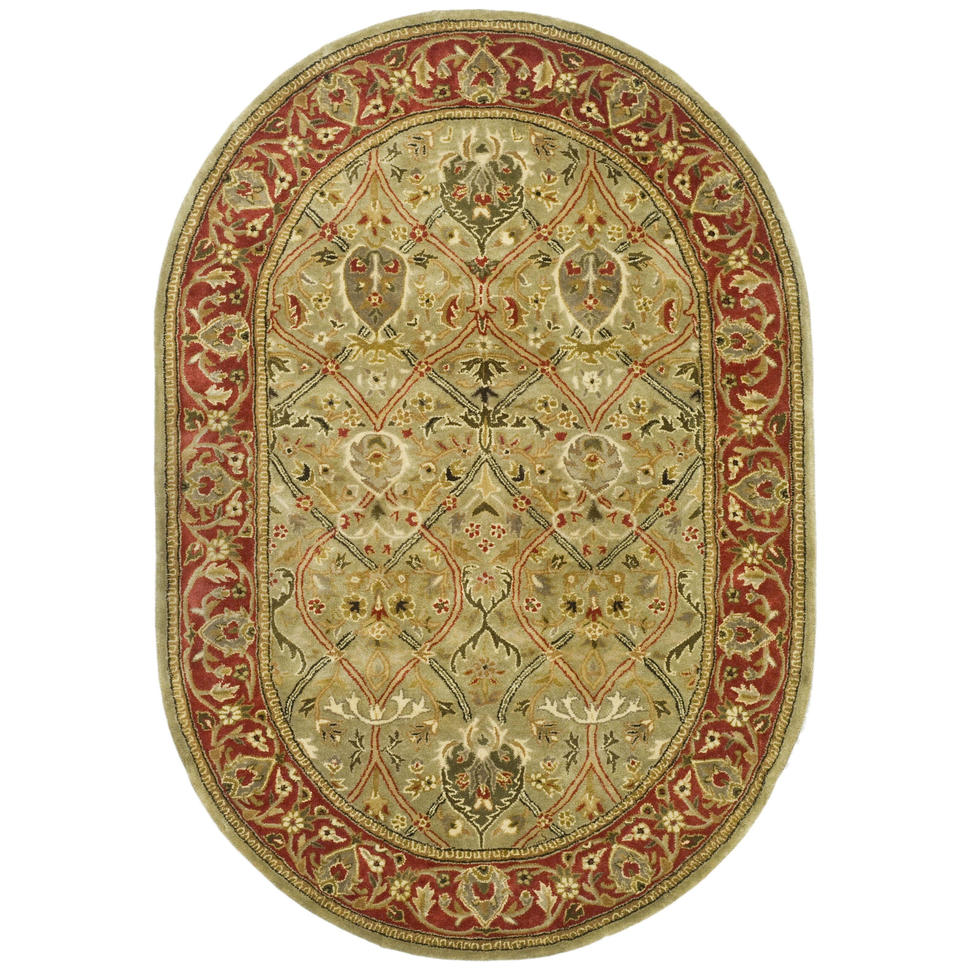 Safavieh Handmade Persian Legend Light Green Rust New: Safavieh Persian Legend Light Green & Rust Area Rug