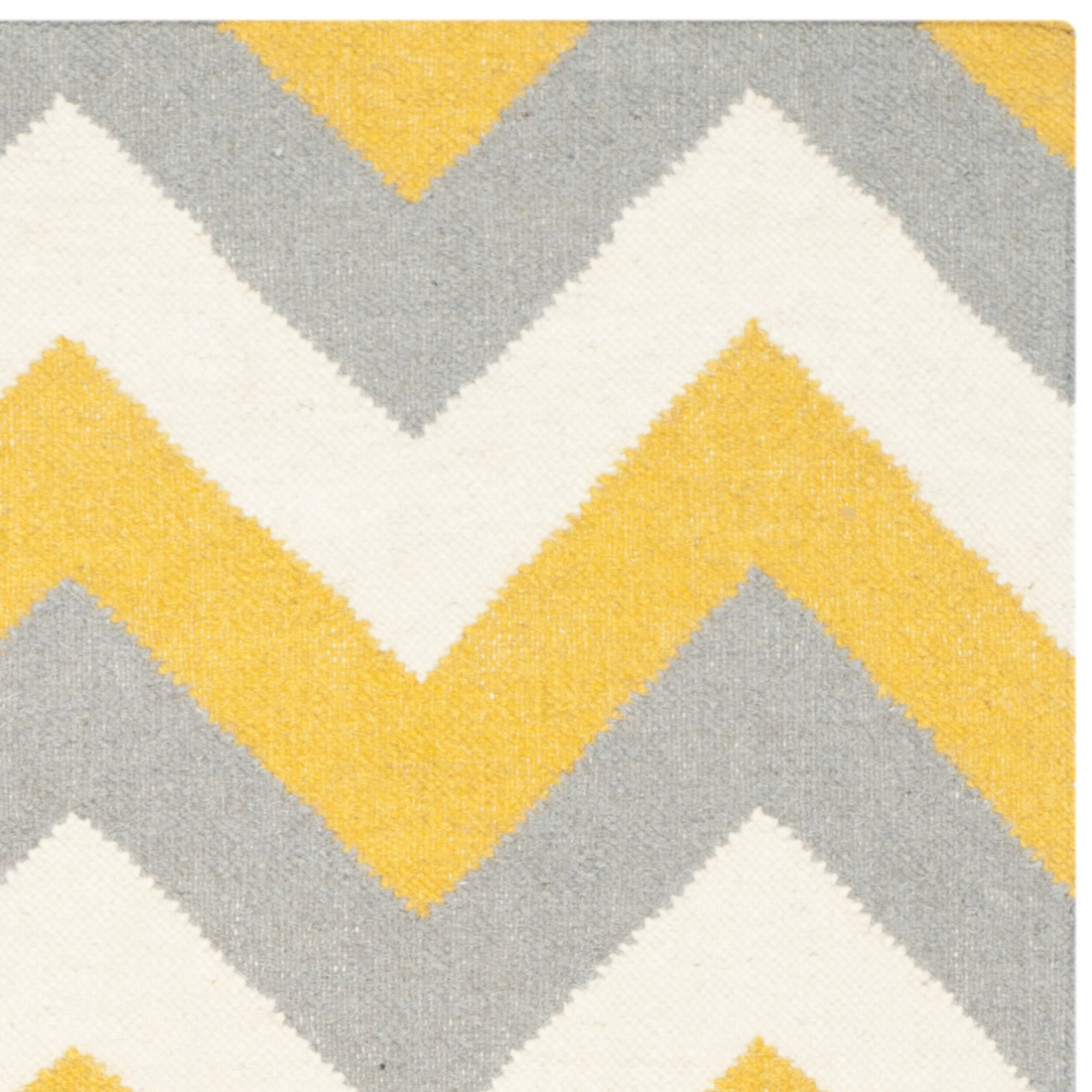 Safavieh Dhurries Gold/Grey Chevron Area Rug