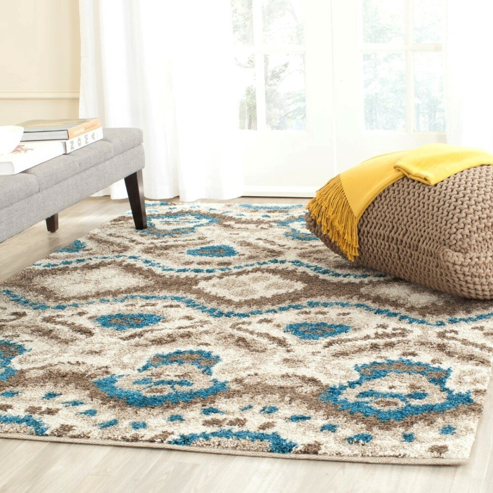 turquoise brown rug