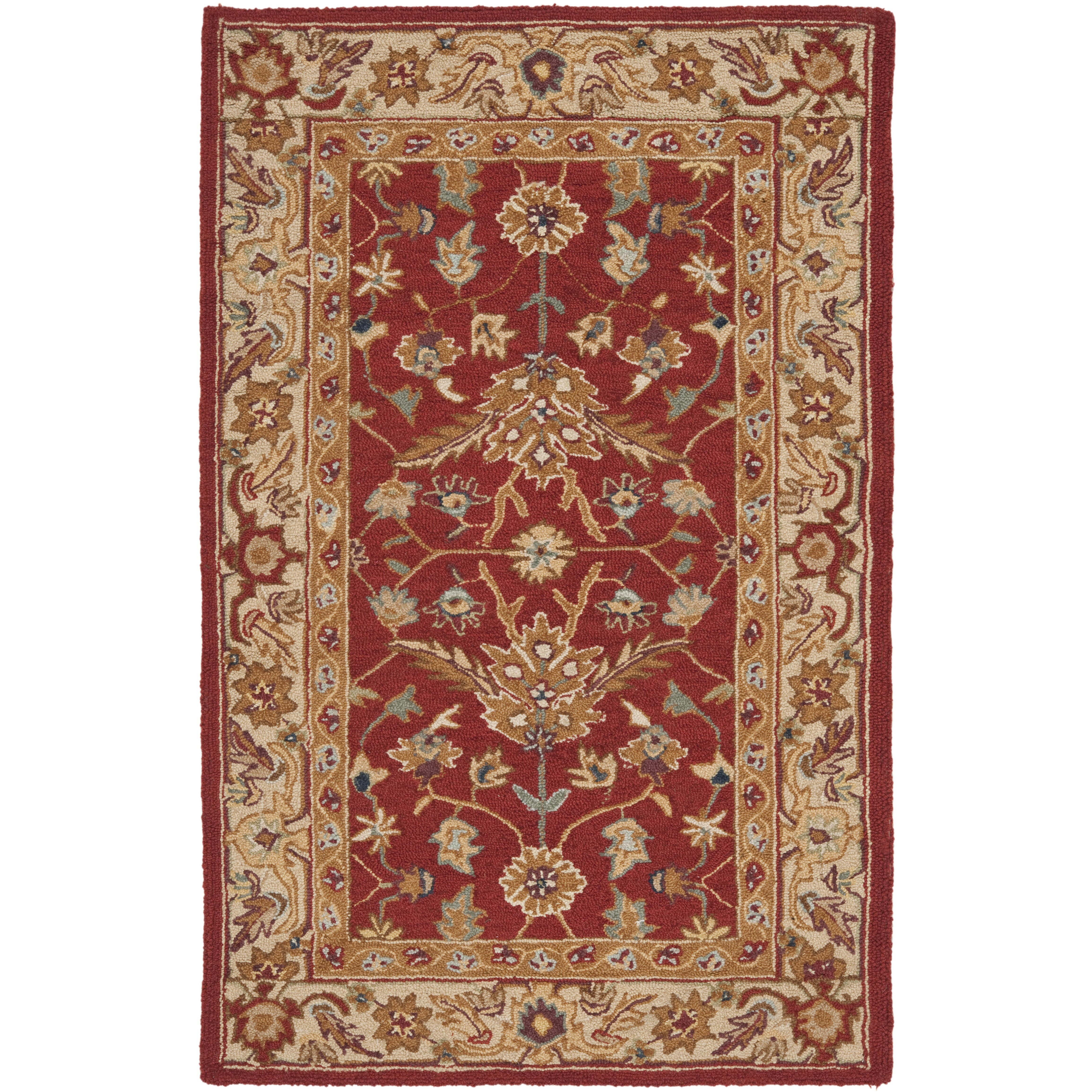 Safavieh Chelsea Red / Ivory Area Rug & Reviews