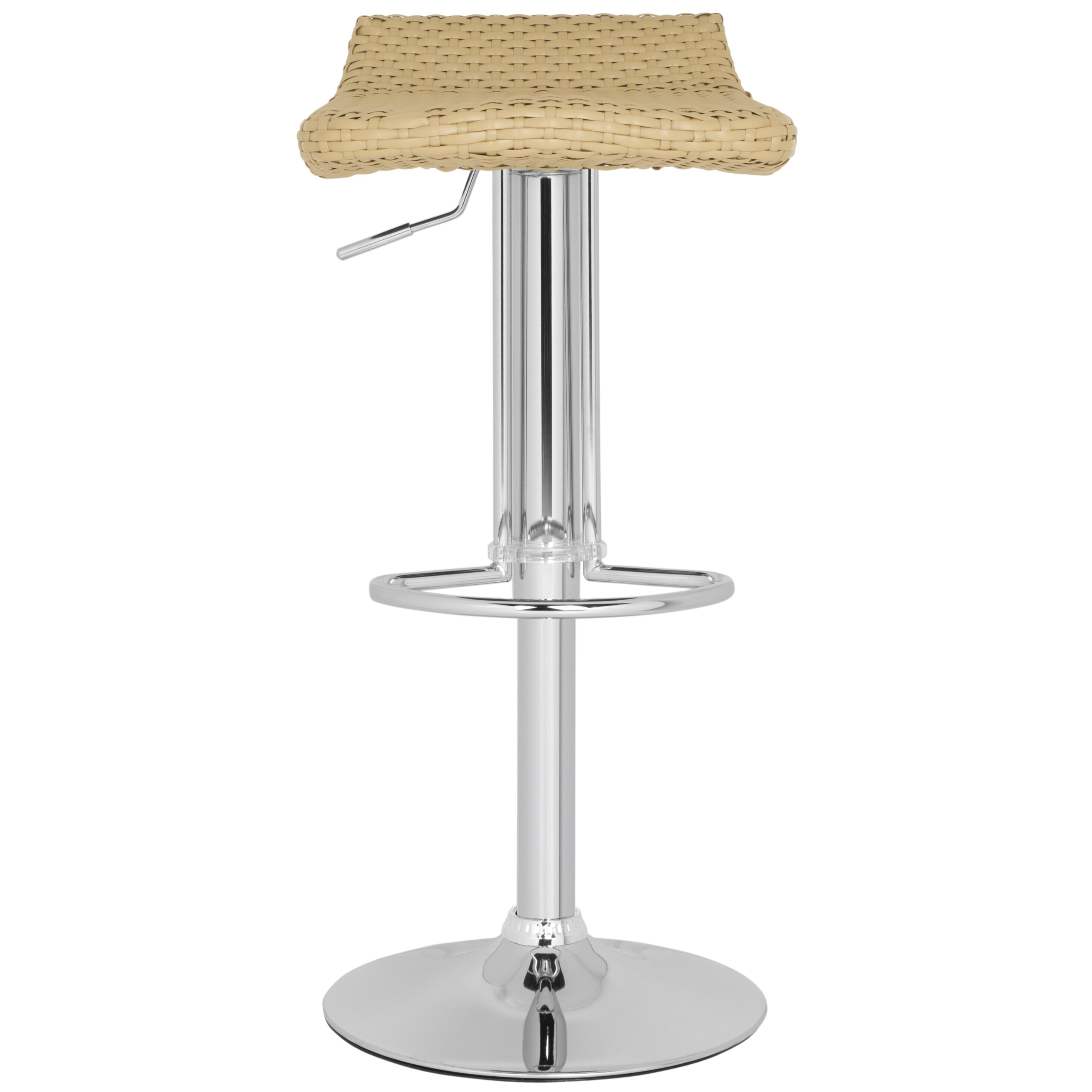 Safavieh Juji Adjustable Height Swivel Bar Stool Amp Reviews