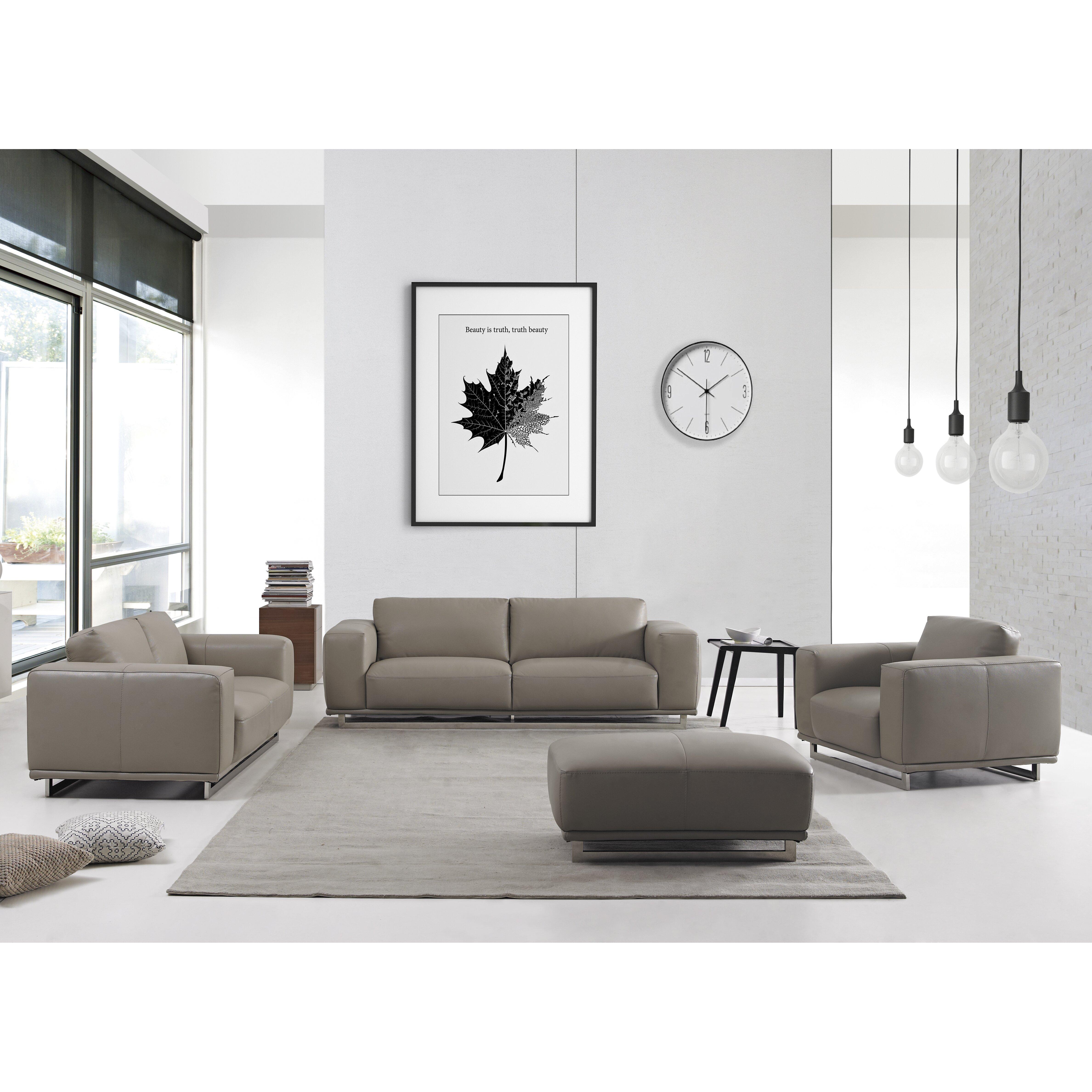 White Leather Living Room Set Daviddivanidesigns 4 Piece Leather Living Room Set Wayfair