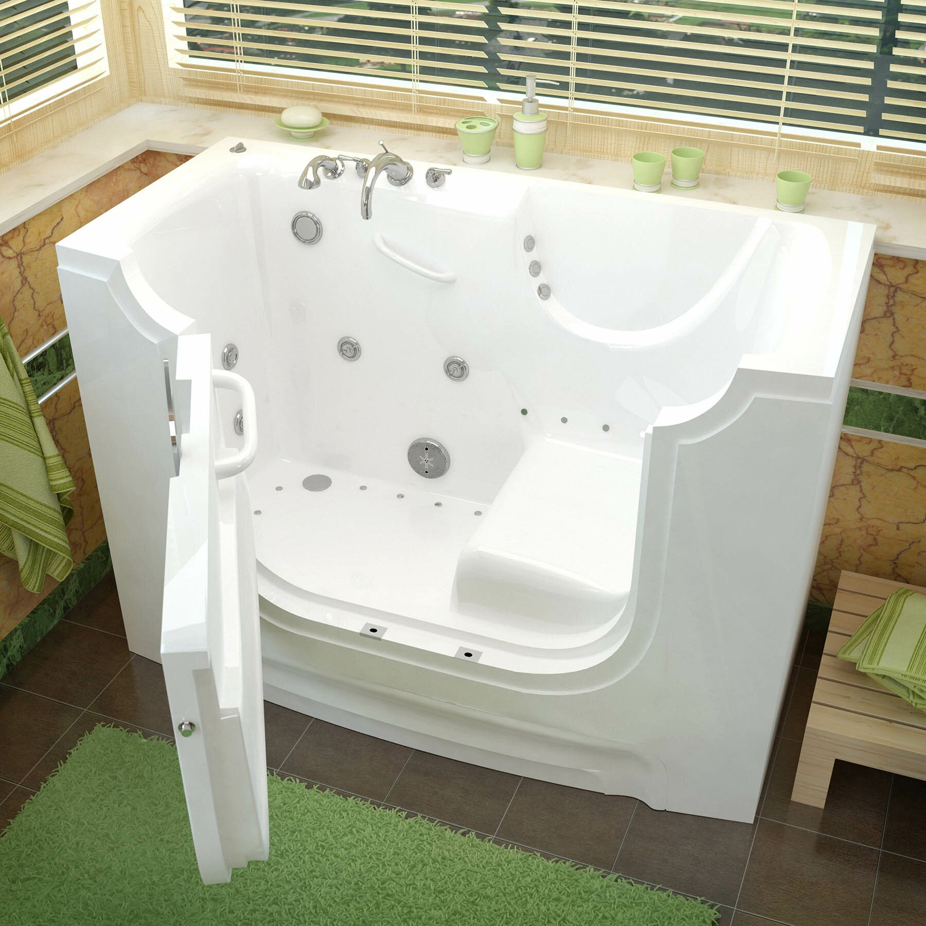 Therapeutic Tubs HandiTub 60 x 30 Whirlpool - Air Jetted  Wheelchair Accessible Bathtub