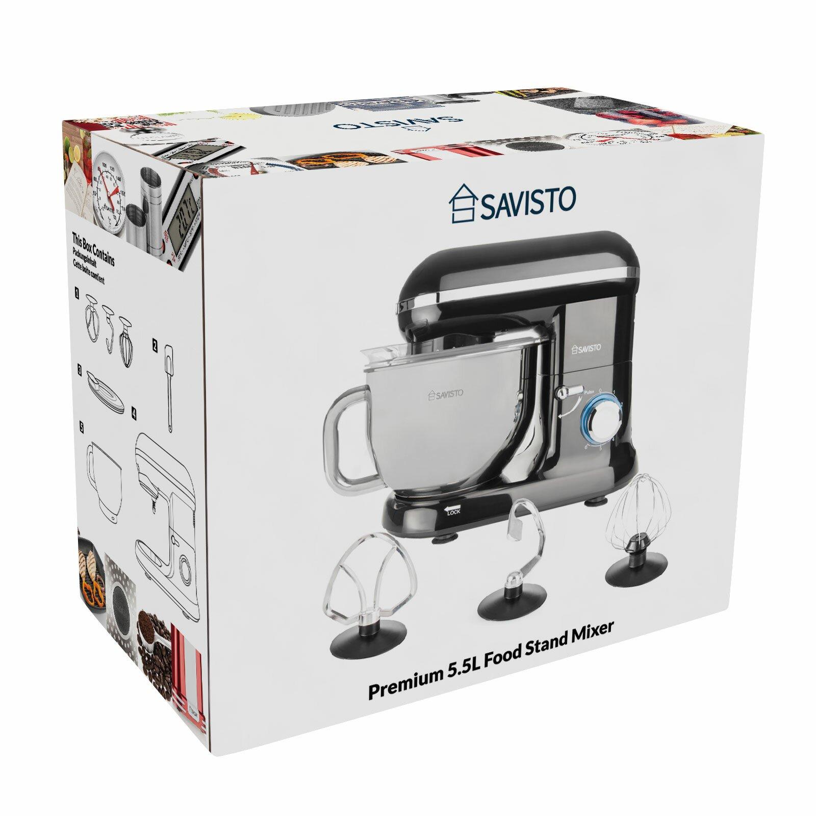 2 Piece Retro Kitchen Savisto 1260w 2 Piece Retro Food Stand Mixer Set Reviews