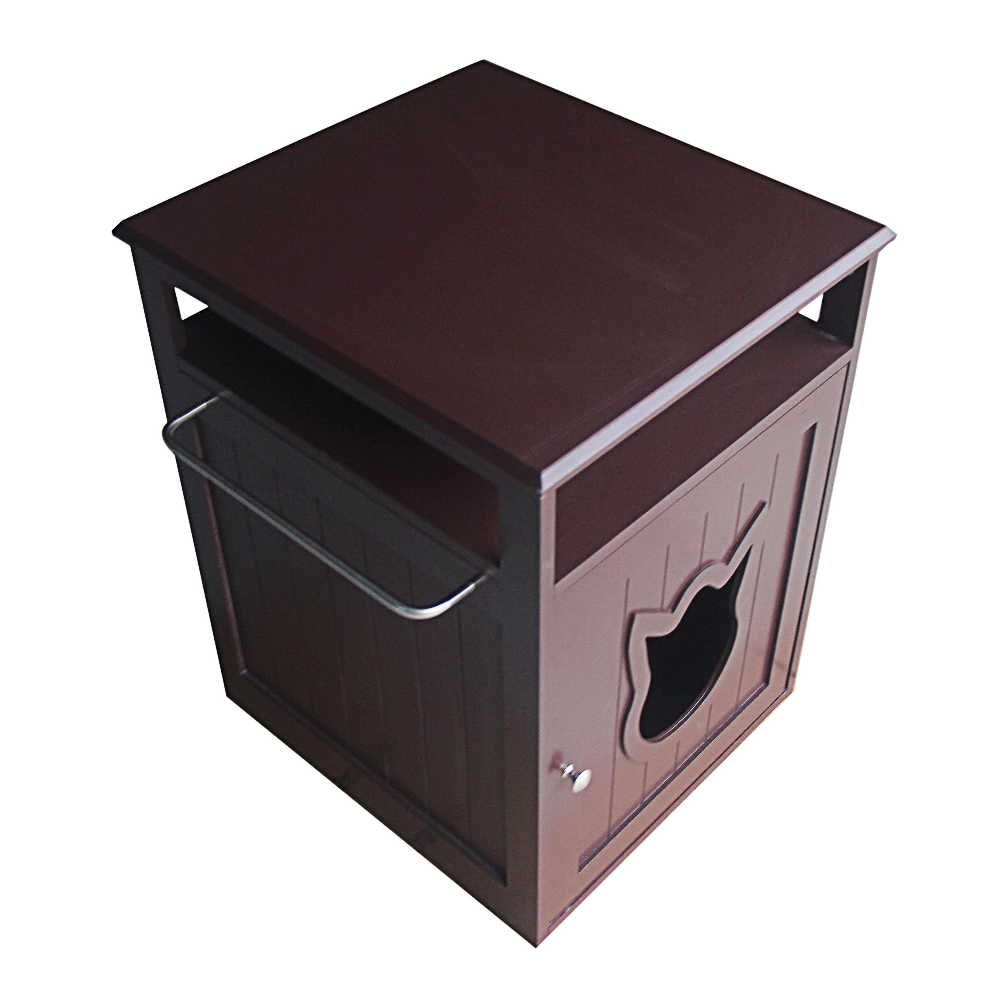 Wooden Litter Box Cabinets Pethuphup Kitty Cat Litter Box Reviews Wayfair