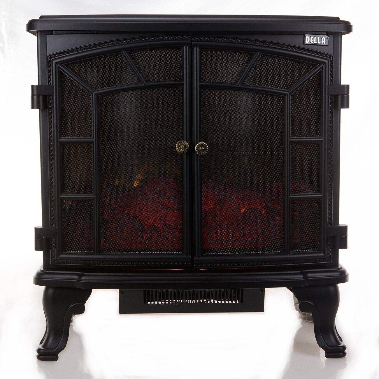 Della Free Standing Electric Fireplace - Della Free Standing Electric Fireplace & Reviews Wayfair