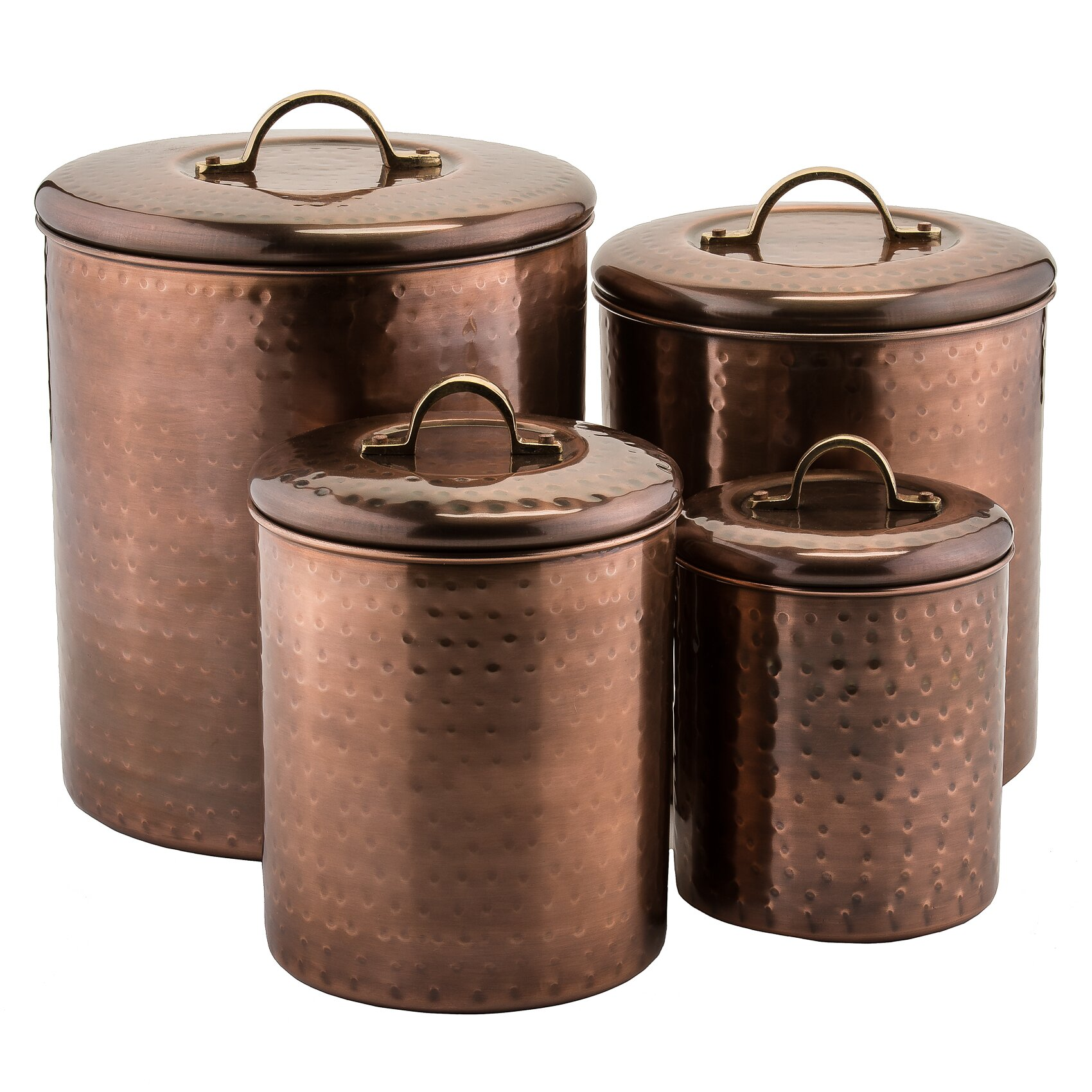28 4 piece kitchen canister sets 4 piece canister set 4 piece kitchen canister sets old dutch 4 piece kitchen canister set amp reviews wayfair ca