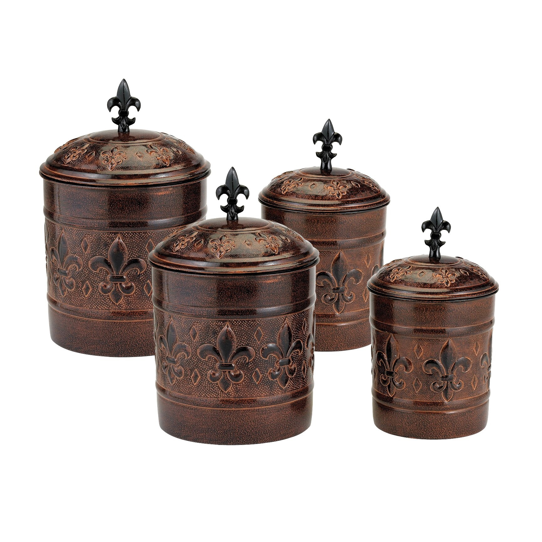 Designer Kitchen Canister Sets Old Dutch Versailles 4 Piece Kitchen Canister Set Reviews Wayfair
