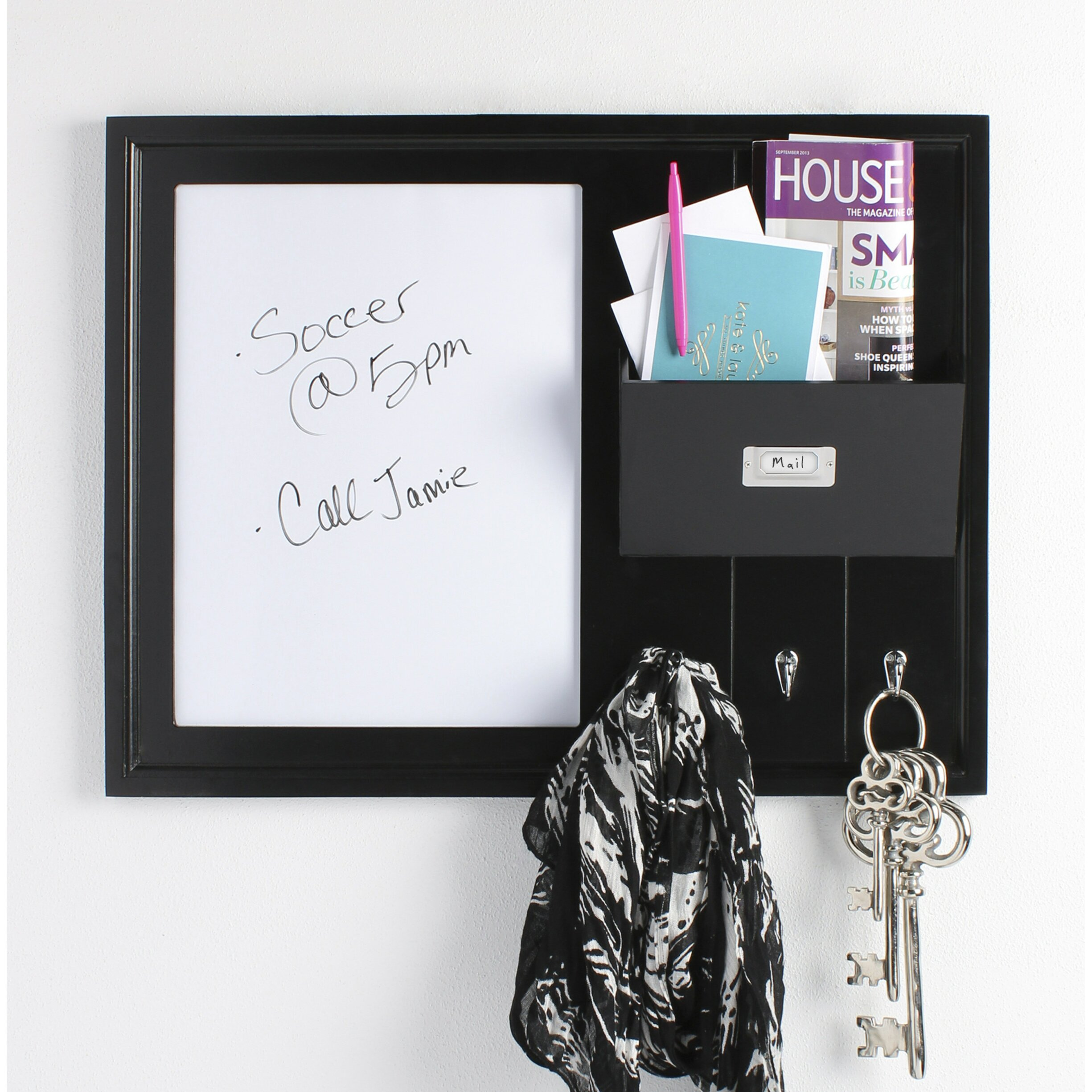 rebrilliant decorative wood home organizer dry erase board