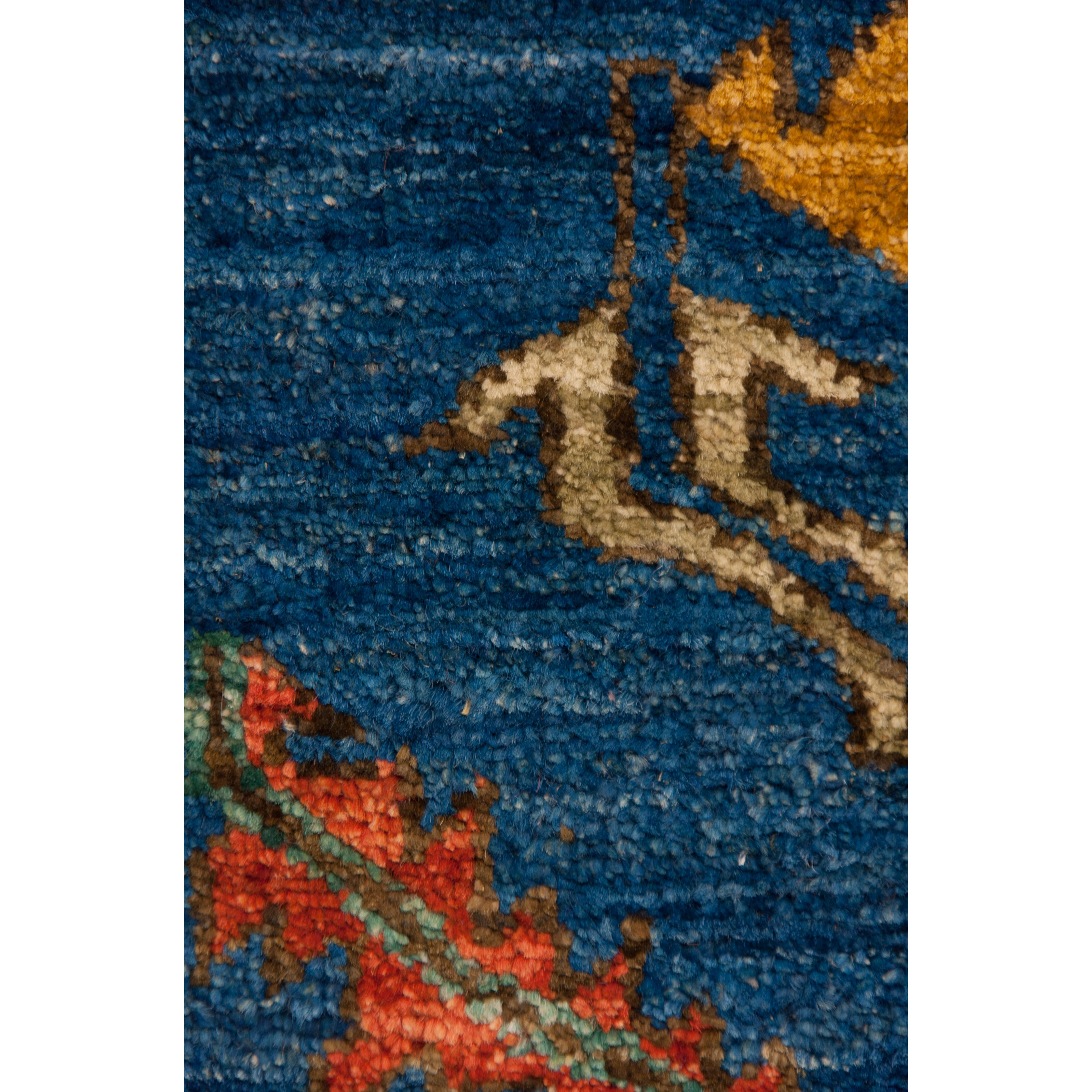 darya rugs ziegler hand knotted blue red area rug. Black Bedroom Furniture Sets. Home Design Ideas