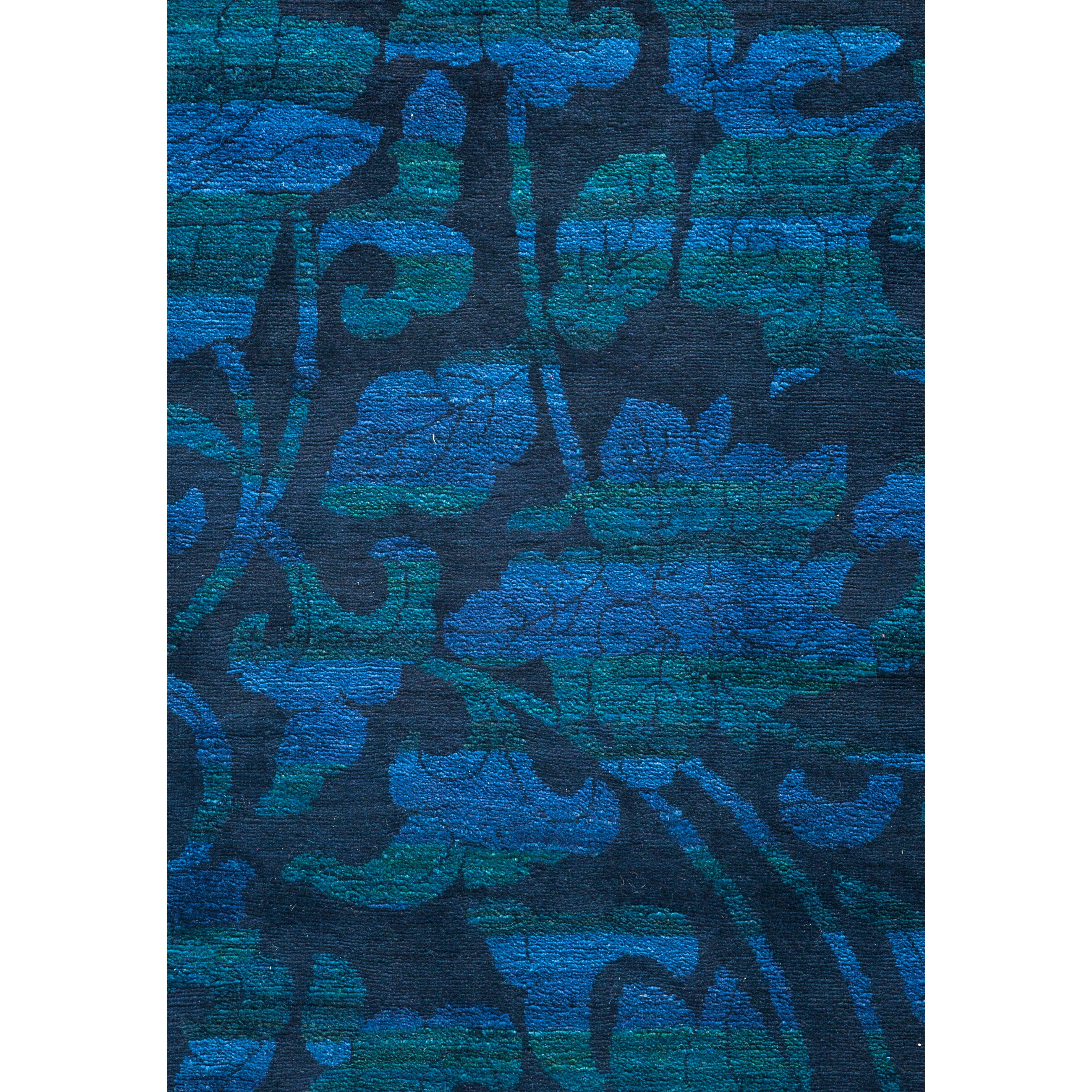 Darya Rugs Vibrance Hand Knotted Blue Area Rug Wayfairca
