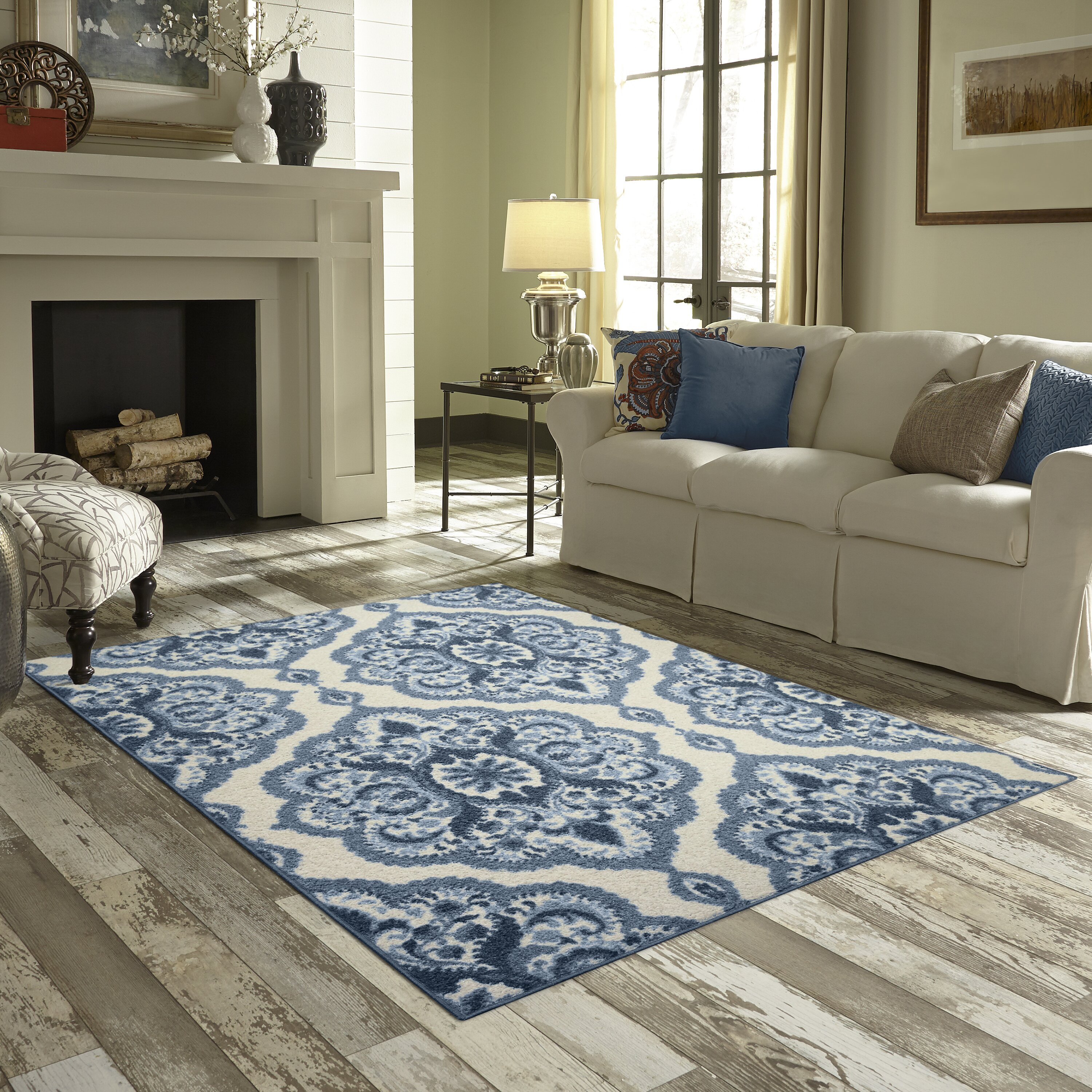 Maples rugs fiona blue area rug