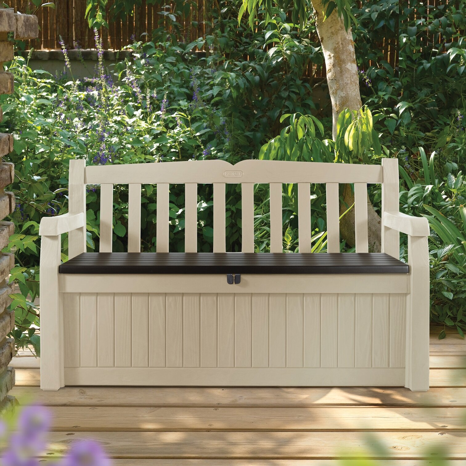 Building Patio Bench With Storage: Keter All Weather 70 Gallon Resin Storage Bench & Reviews