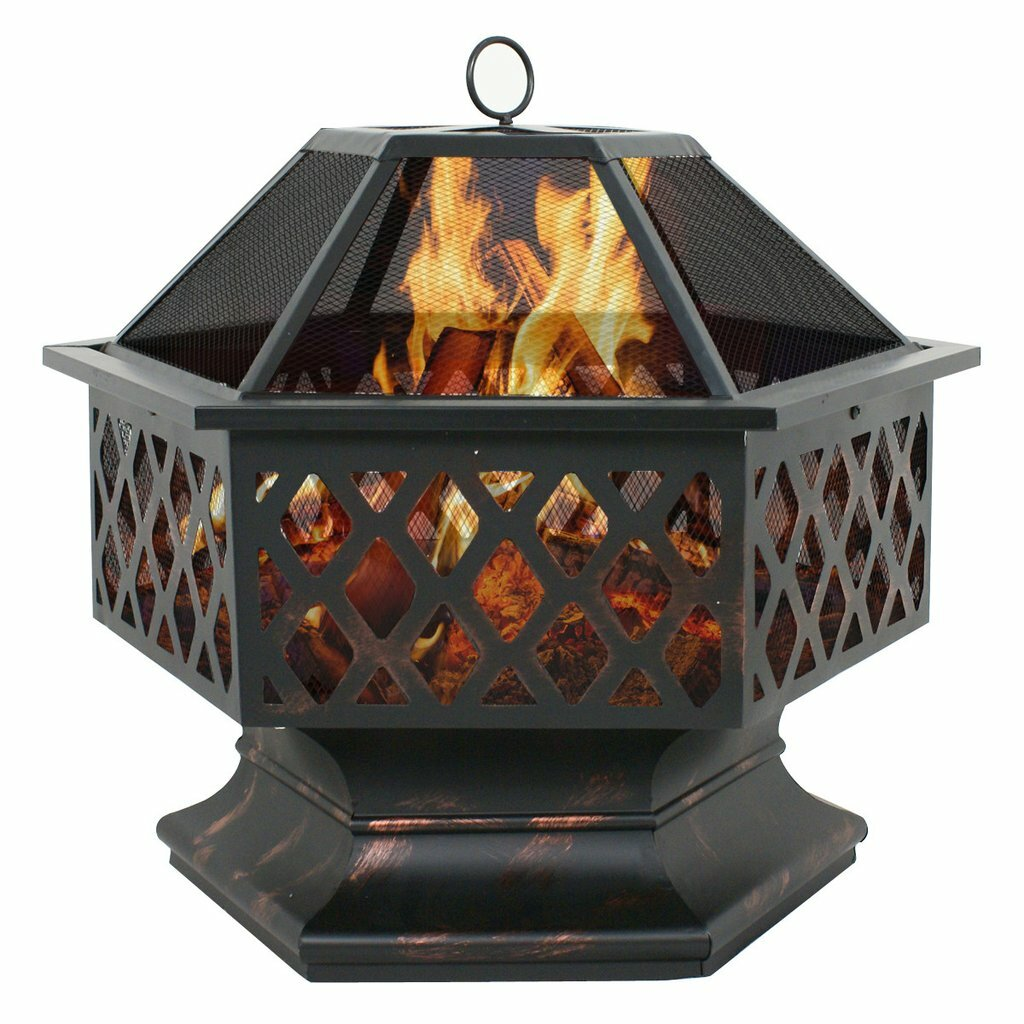 Zeny Steel Wood Burning Fire Pit Amp Reviews Wayfair Ca