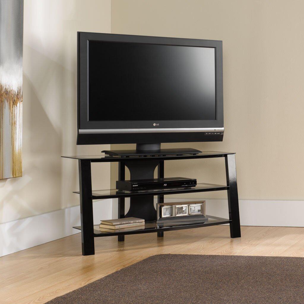 Sauder Tv Cabinet Sauder Mirage Tv Stand Reviews Wayfair