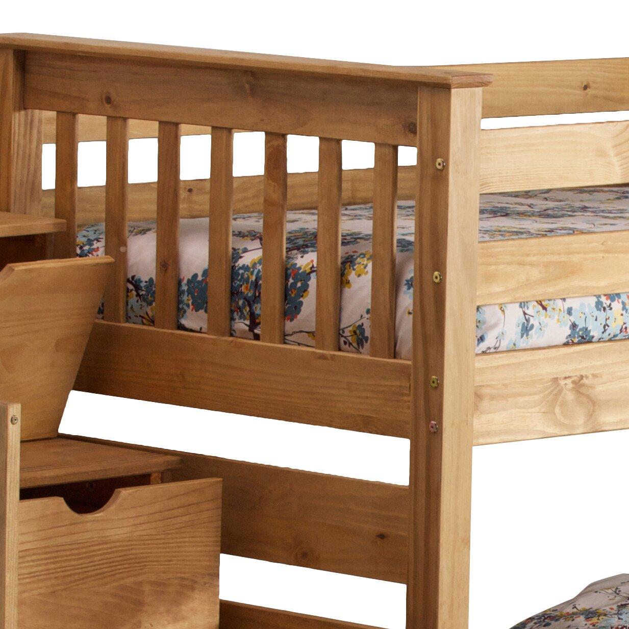 just kids bunk bed with storage u reviews wayfair co uk mode
