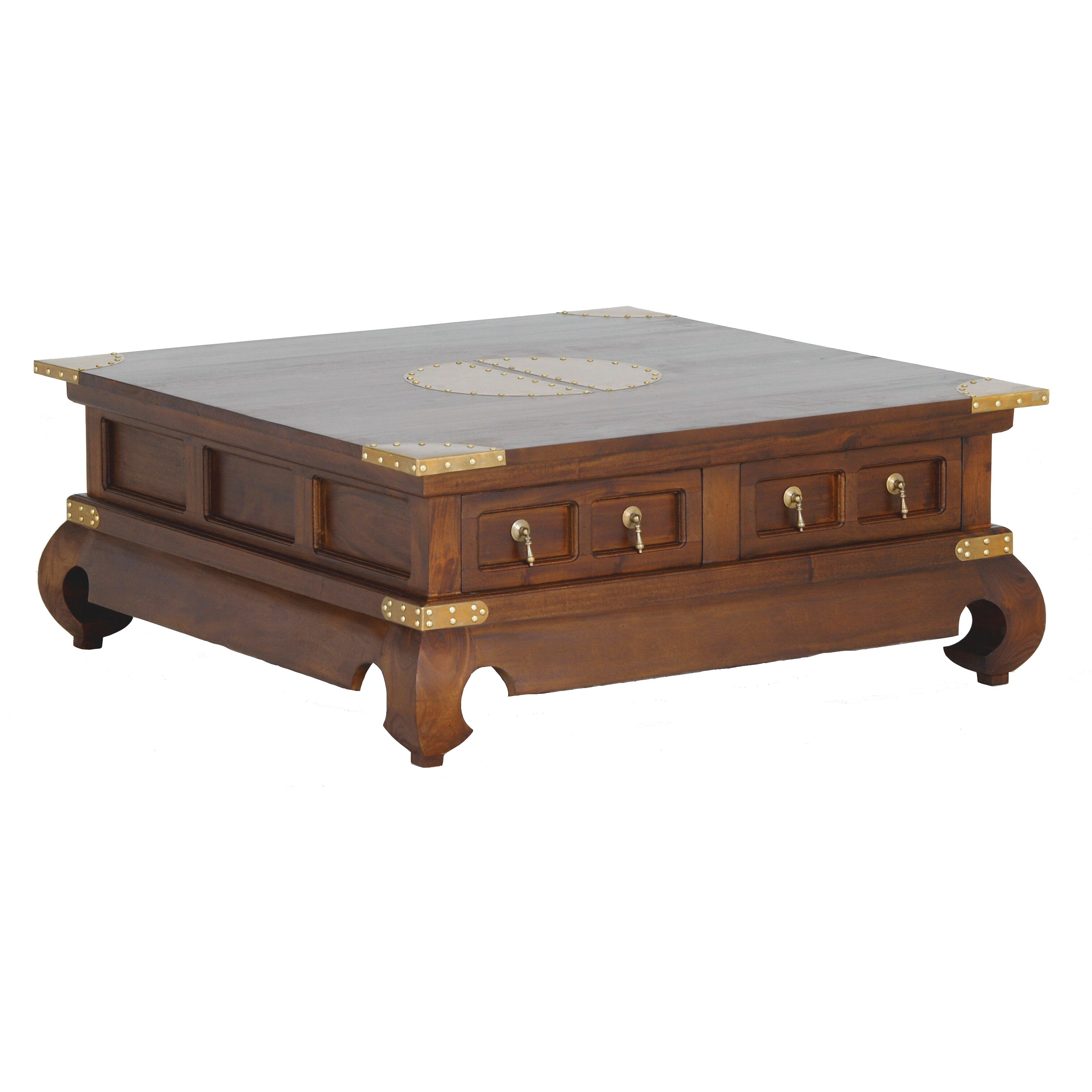 Solid Wood Coffee Table Wayfair: NES Furniture Ming Fine Handcrafted Solid Mahogany Wood