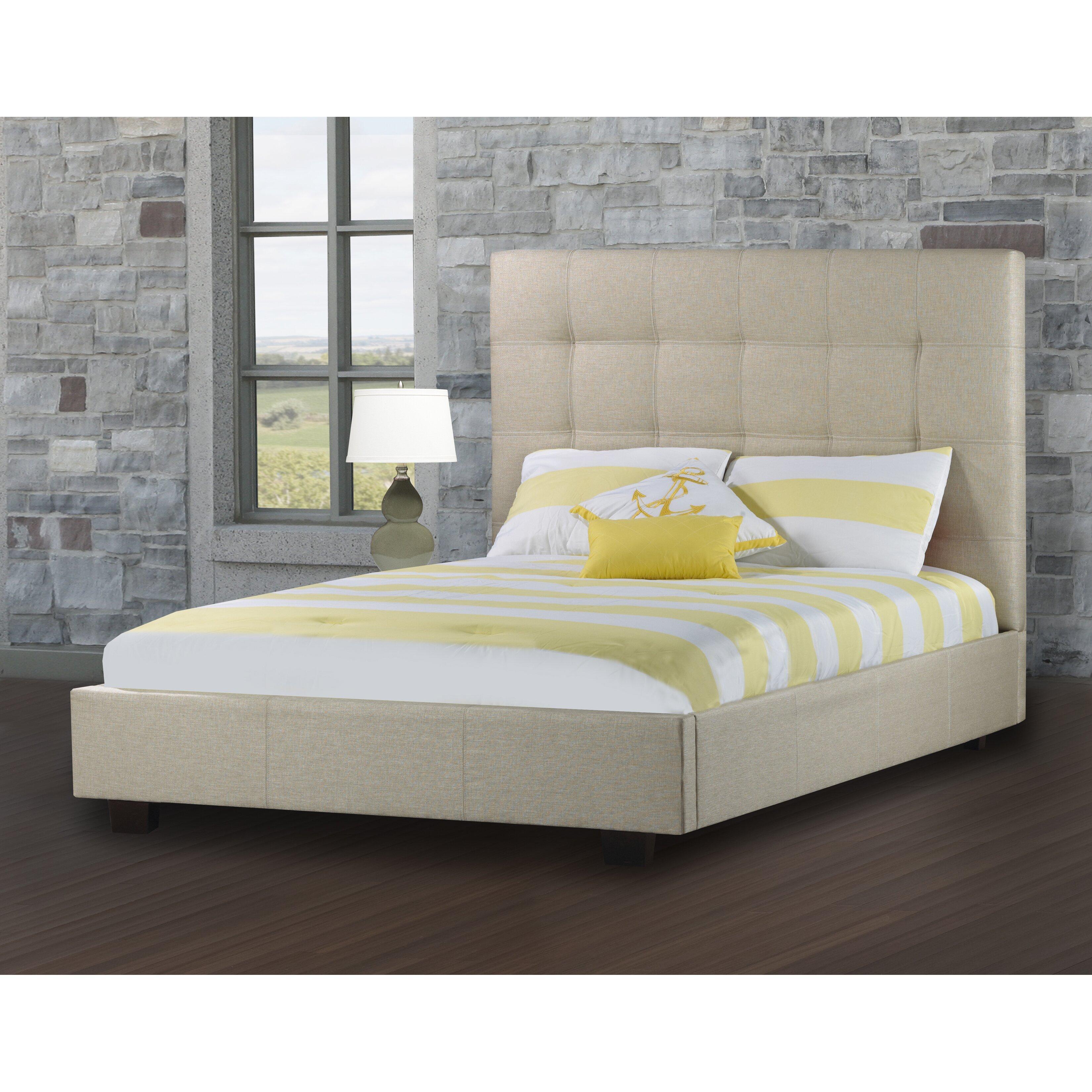 Upholstered Platform Bed By Rosemount