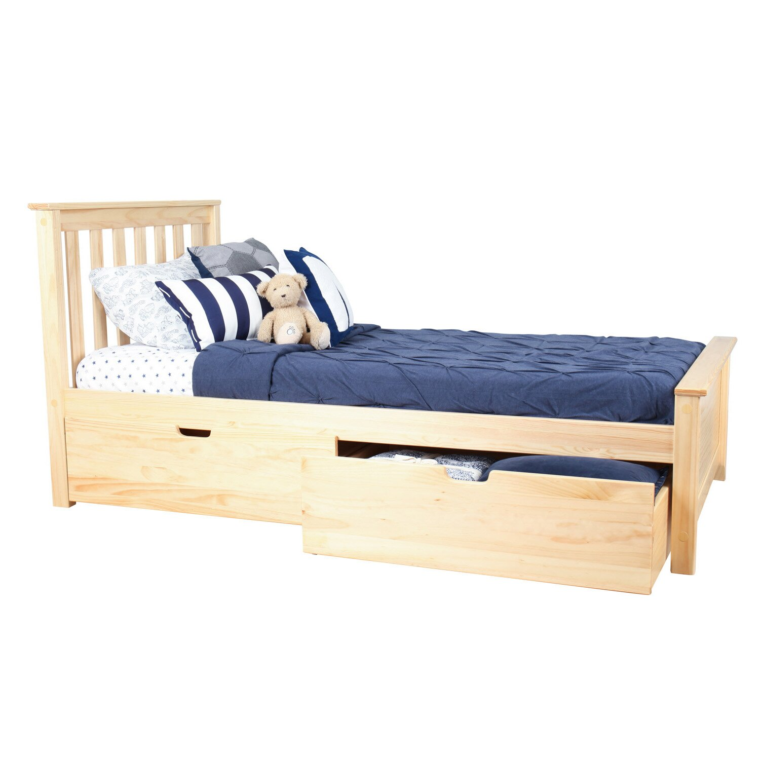 how to build a twin platform bed with storage underneath