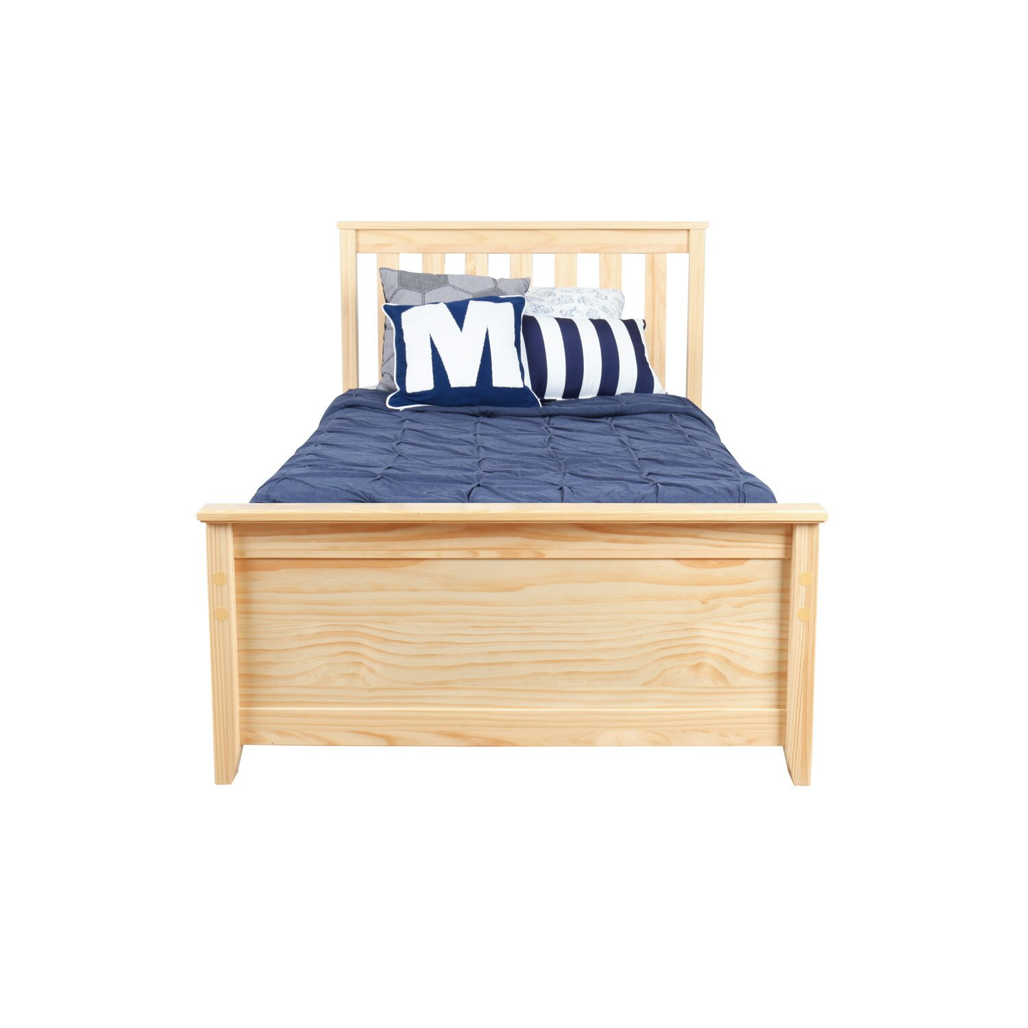 Max Amp Lily Solid Wood Twin Platform Bed With Under Bed