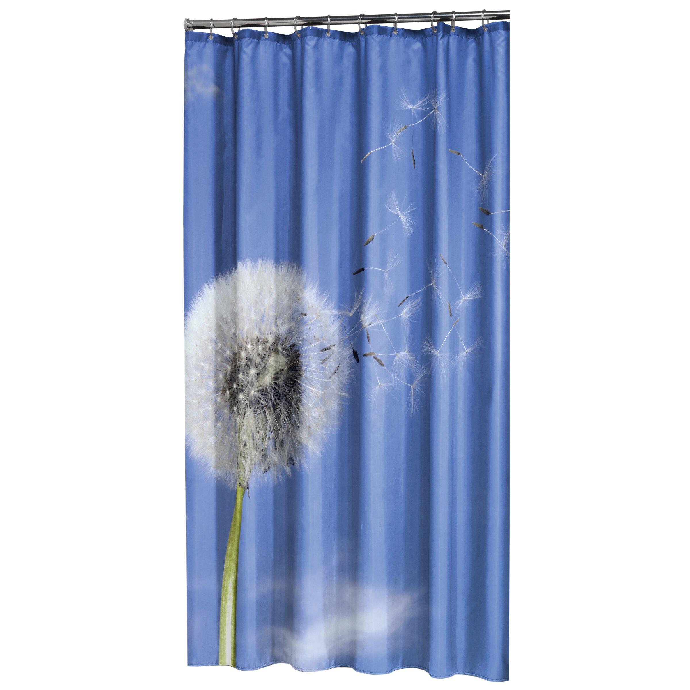 sealskin dandelion seeds shower curtain