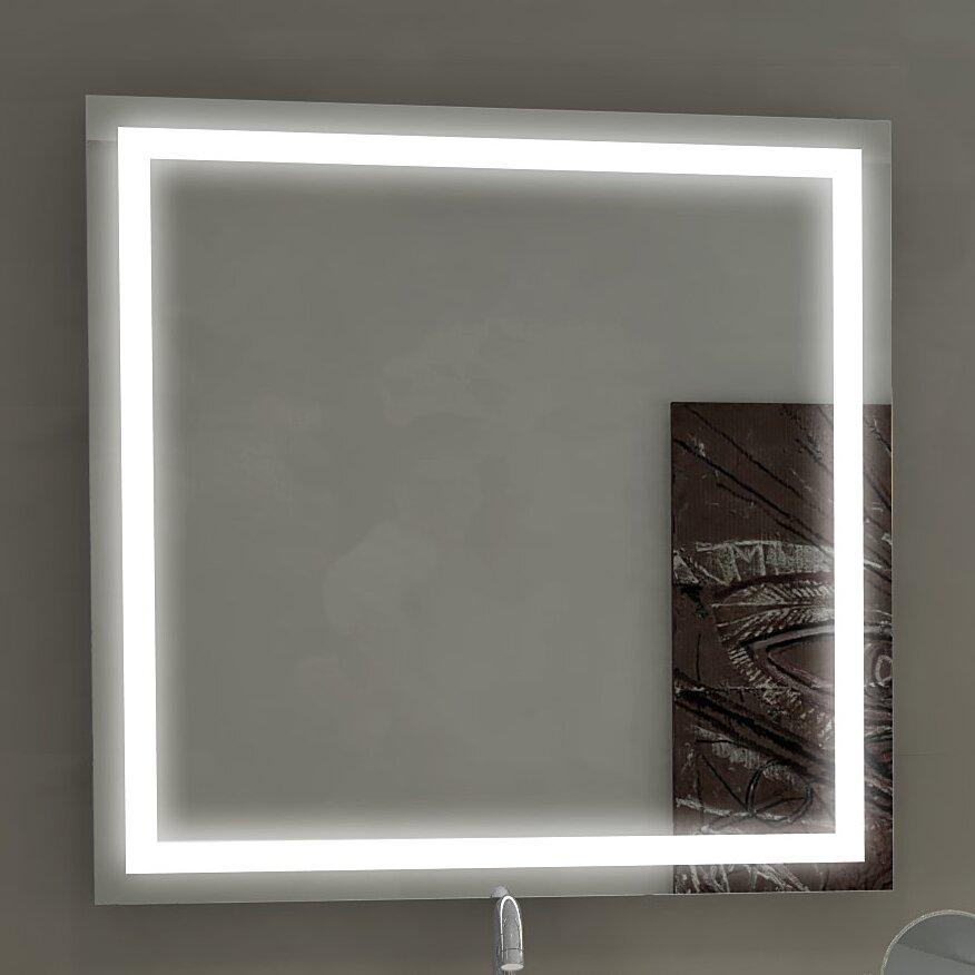 Paris mirror harmony illuminated bathroom vanity wall - Illuminated wall mirrors for bathroom ...