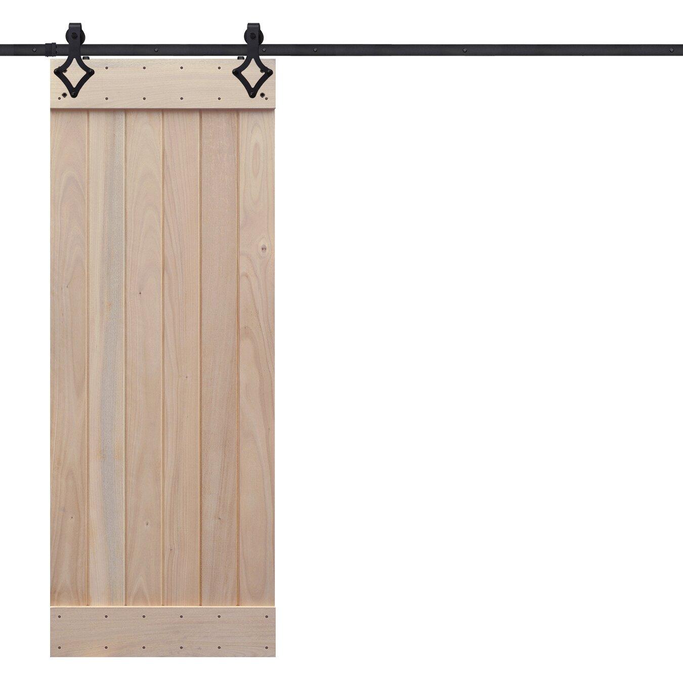 Barndoorz Rustic Knotty Alder Plank Wood Interior Barn Doors