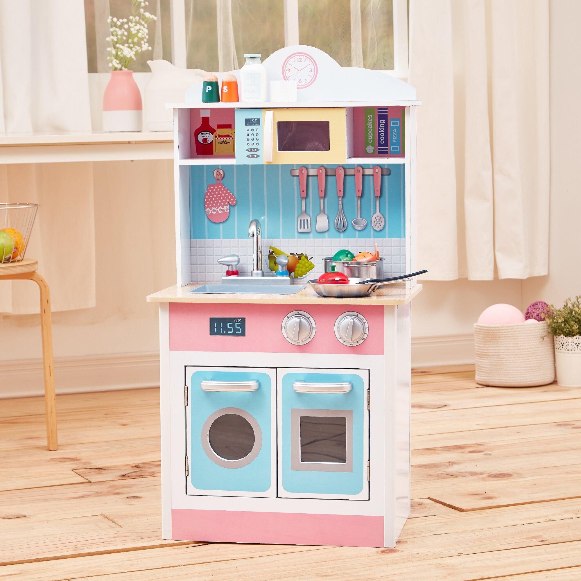 Pastel Kitchen Teamson Kids My Little Chef Pastel Small Play Kitchen Reviews