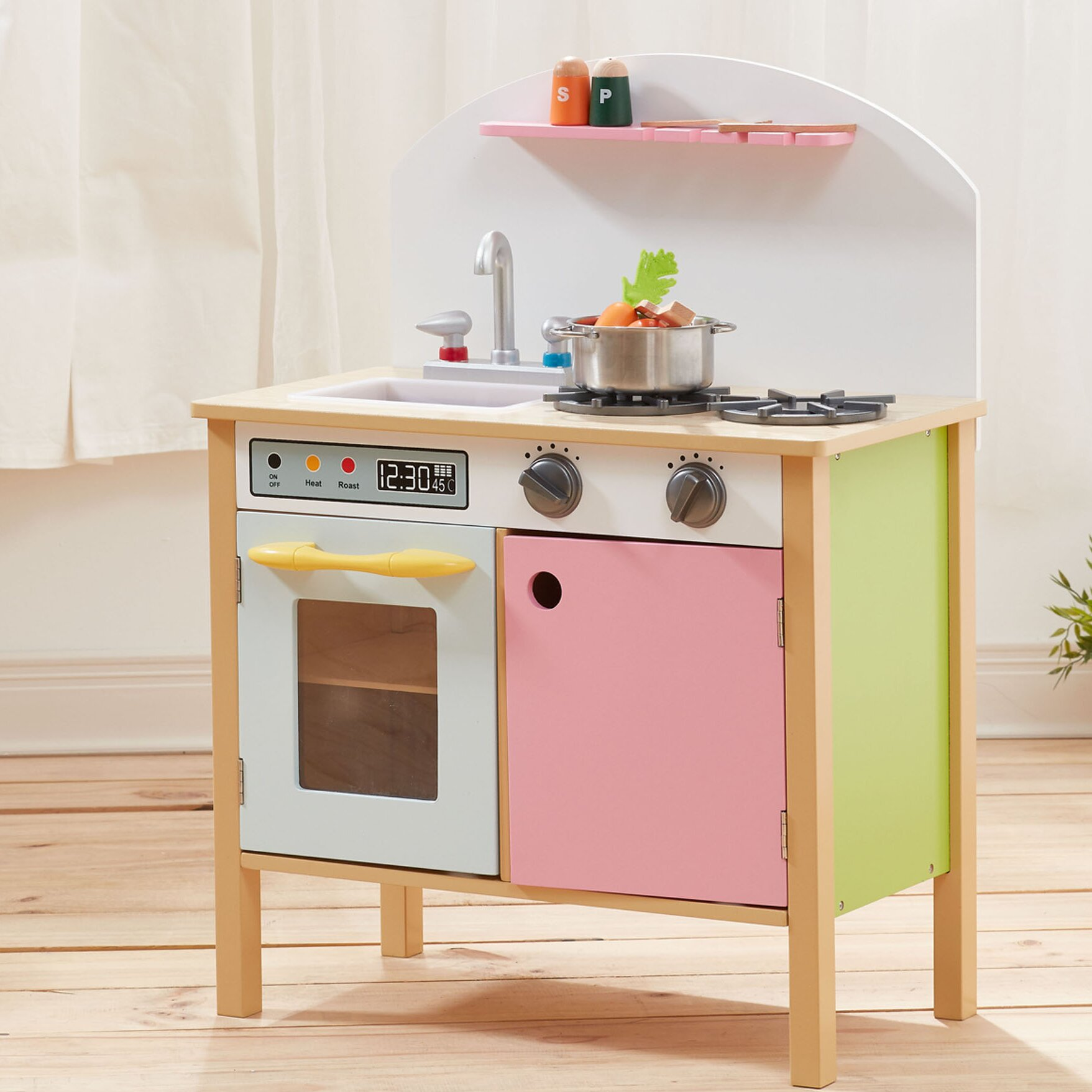 Pink Kitchen Teamson Kids Pretend Play Pink Kitchen Reviews Wayfair