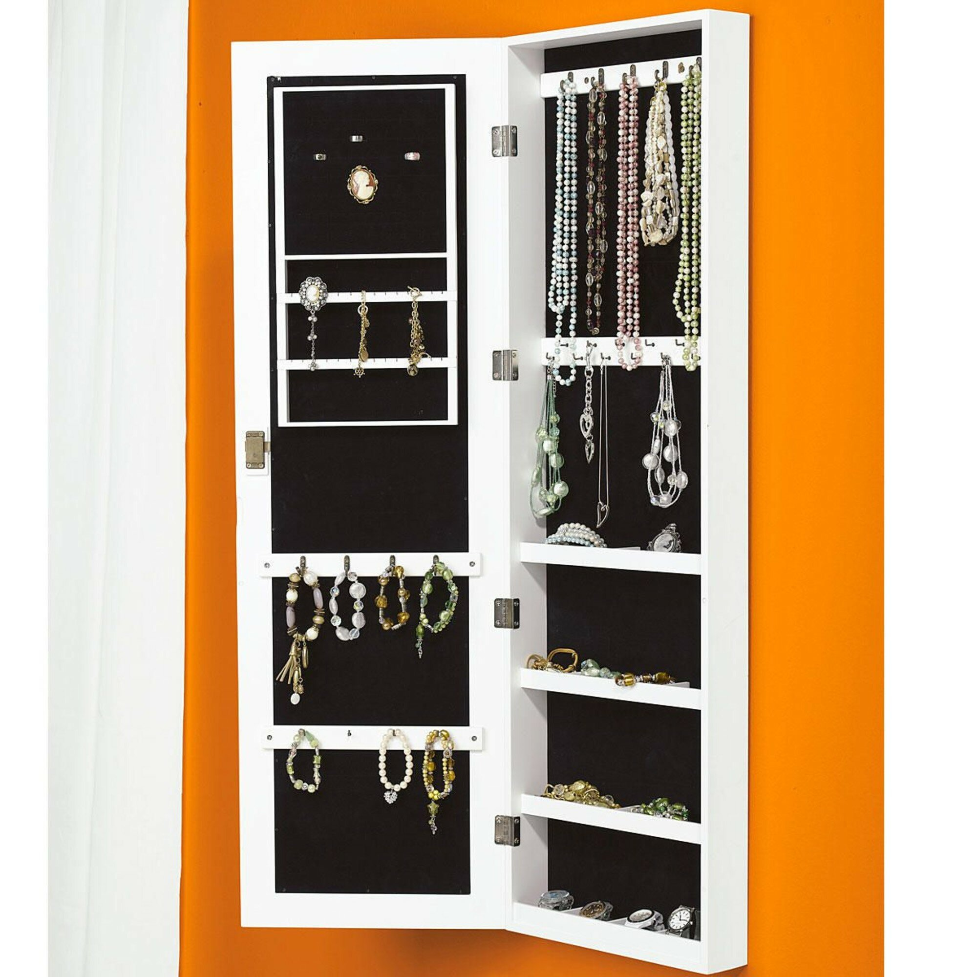 Jewellery Cabinet Uk Miavilla Wall Mounted Jewellery Cabinet With Mirror Reviews