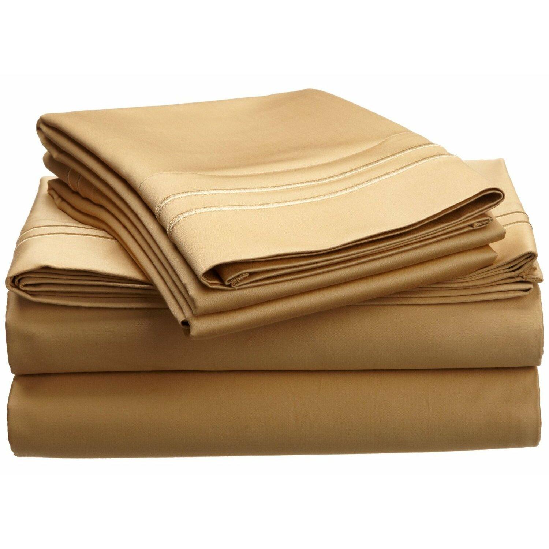 piece  thread count egyptian cotton sheet set  reviews  - simple luxury piece  thread count egyptian cotton sheet set