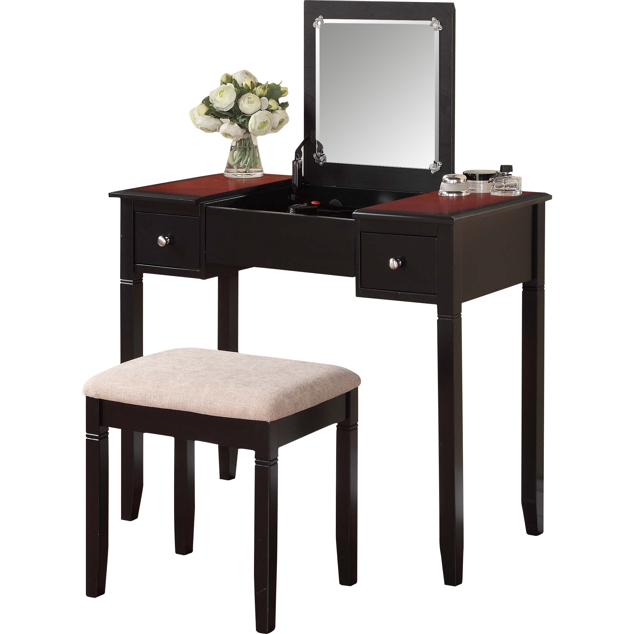 Linon Jackson Vanity Set With Mirror Reviews: Linon Camden Vanity Set With Mirror & Reviews