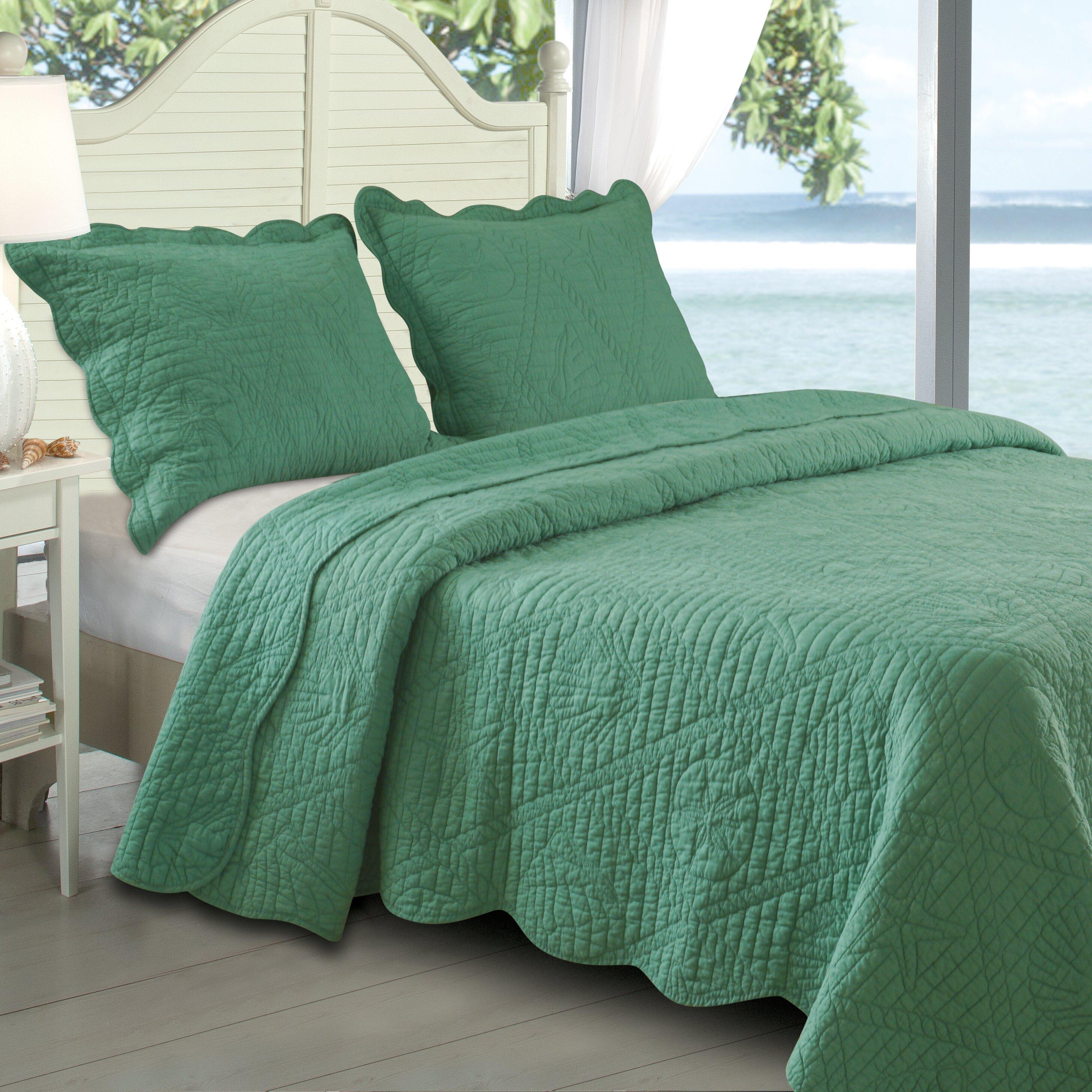 Greenland Home Fashions La Jolla Seashell Quilt Set