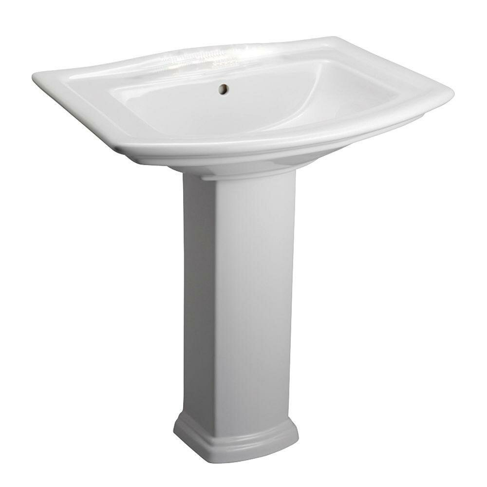 Home Improvement Bathroom Fixtures ... Pedestal Bathroom Sinks Barclay ...