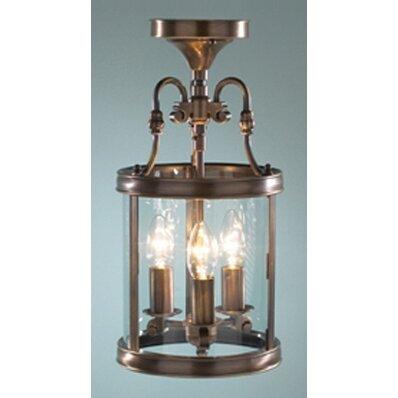 Dar Lighting Lambeth 3 Light Flush Ceiling Light